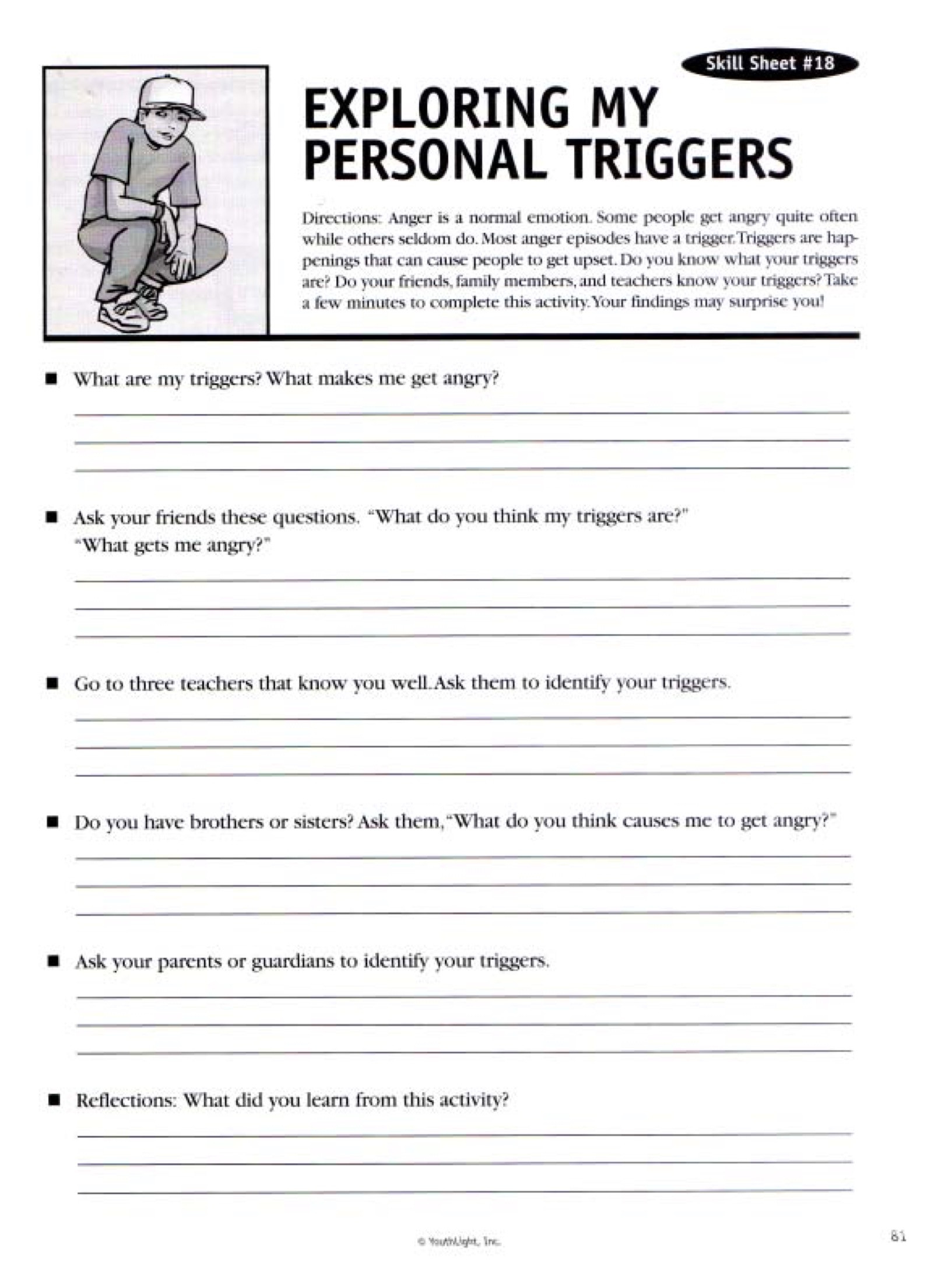 Anger Management Worksheet for Teenagers 141 Creative Strategies for Reaching Adolescents with Anger Problems