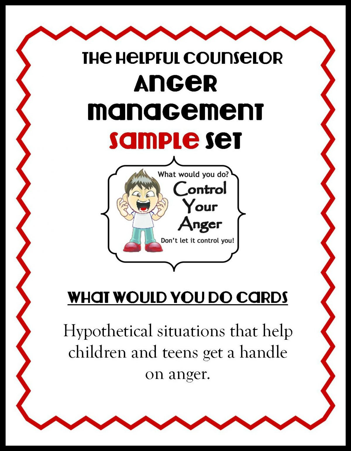 Anger Deck Website Freebie