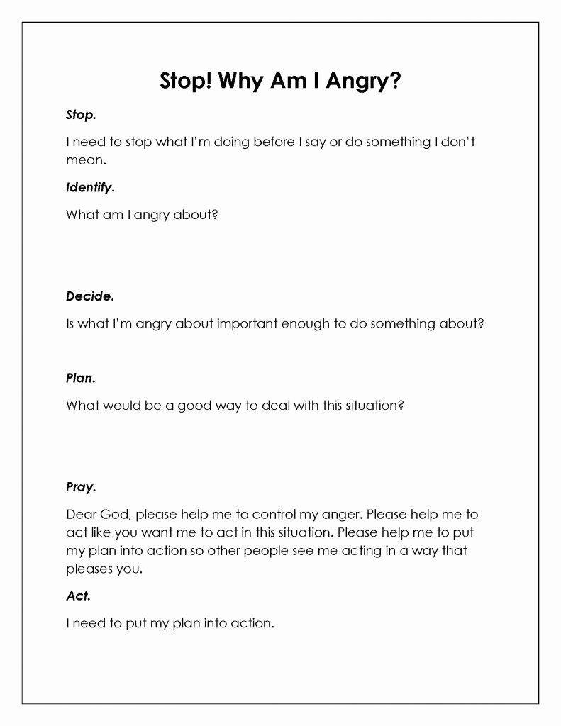 Anger Management Worksheet for Teenagers Anger Management Worksheet for Teens Luxury 10 Best Anger