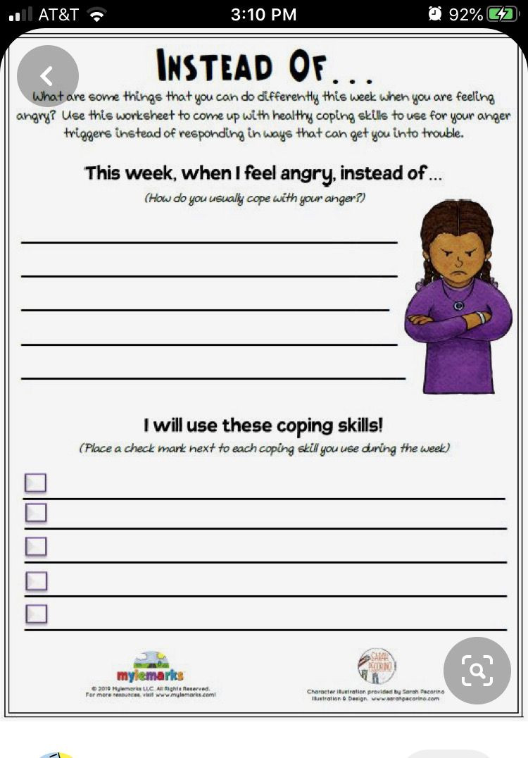 Anger Management Worksheet for Teenagers Pin by Patrice Stanley On Kids In 2020