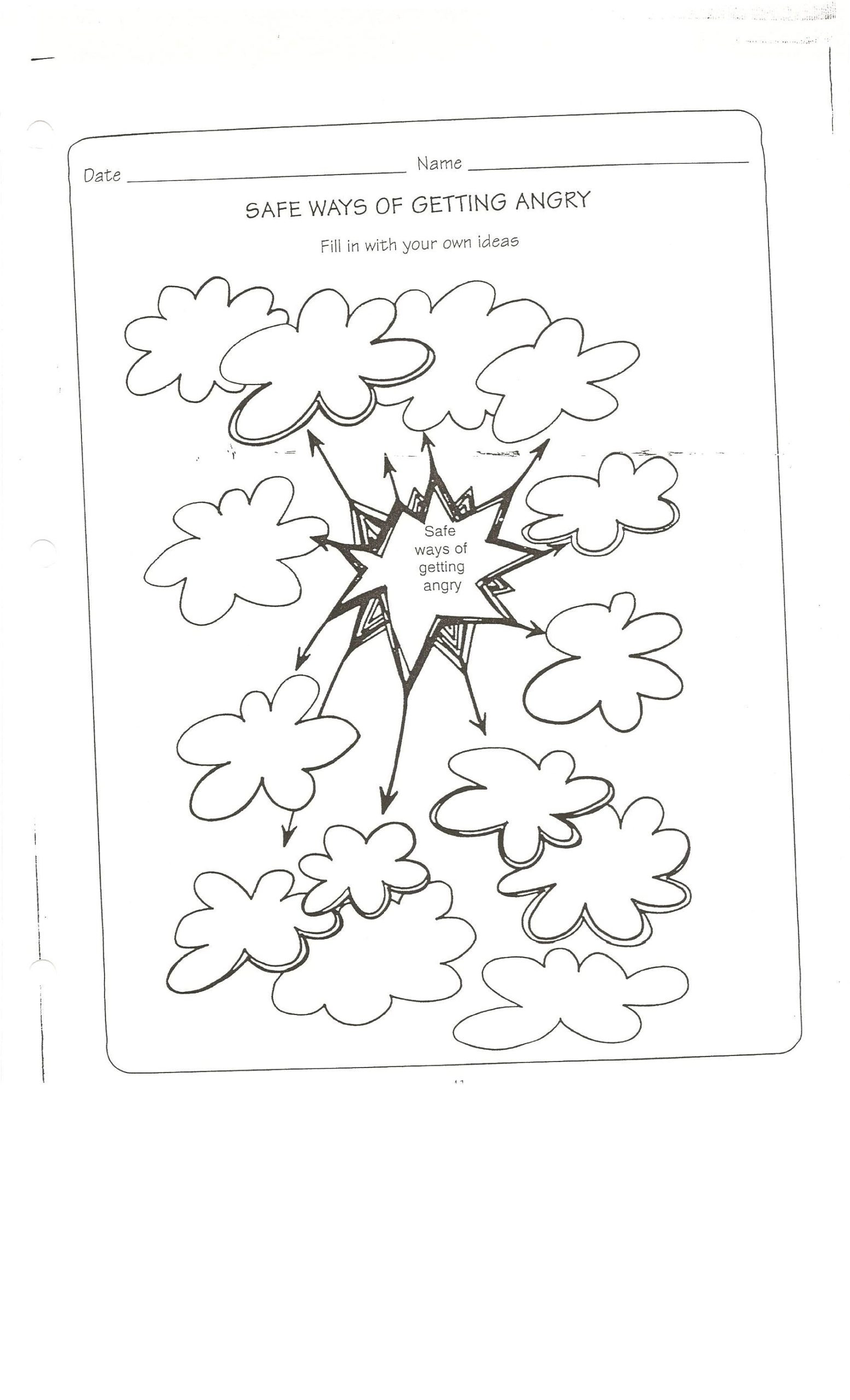 Anger Management Worksheet for Teenagers Safe Way to Get Angry Worksheet Conflict Resolution Anger