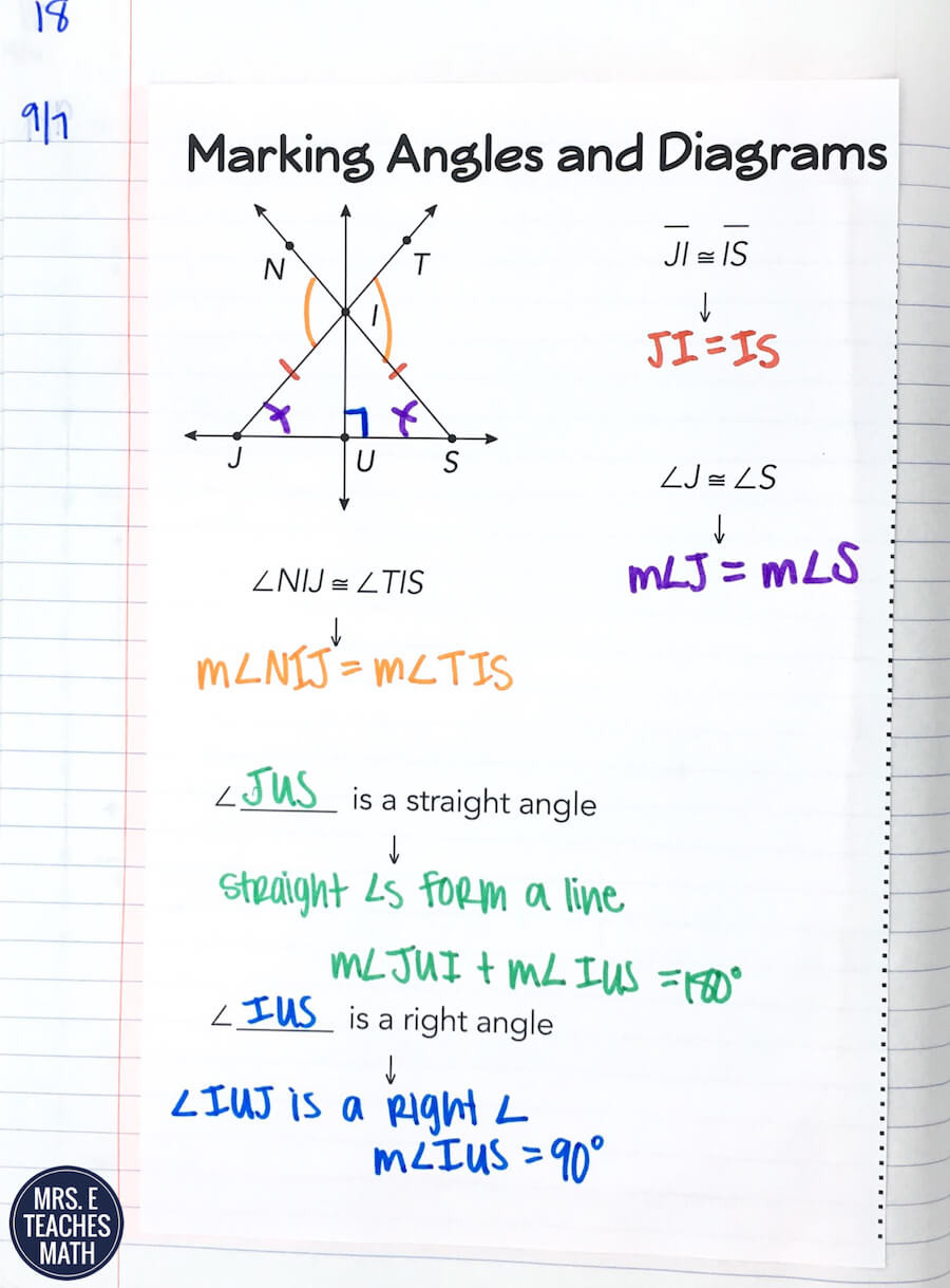 Angle Addition Postulate Worksheet Angle Addition Postulate Inb Pages