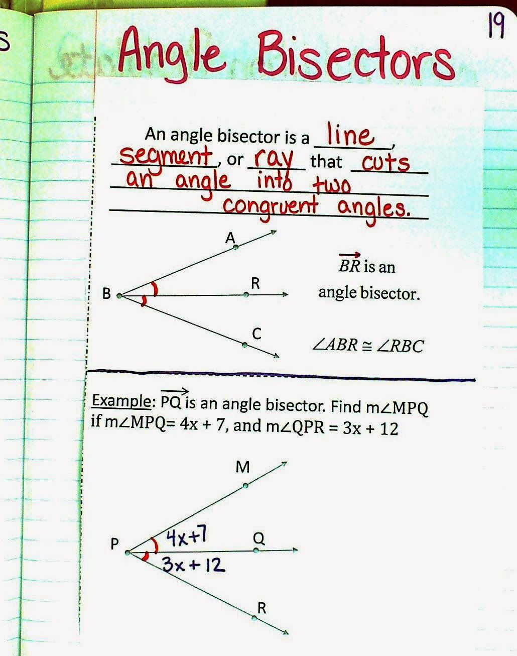 Angle Addition Postulate Worksheet Angle Relationships Unit