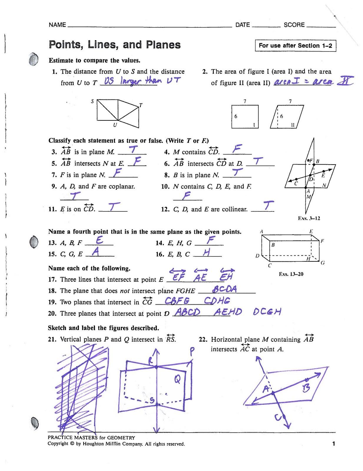 Angle Addition Postulate Worksheet Segment Addition Postulate Practice Answers