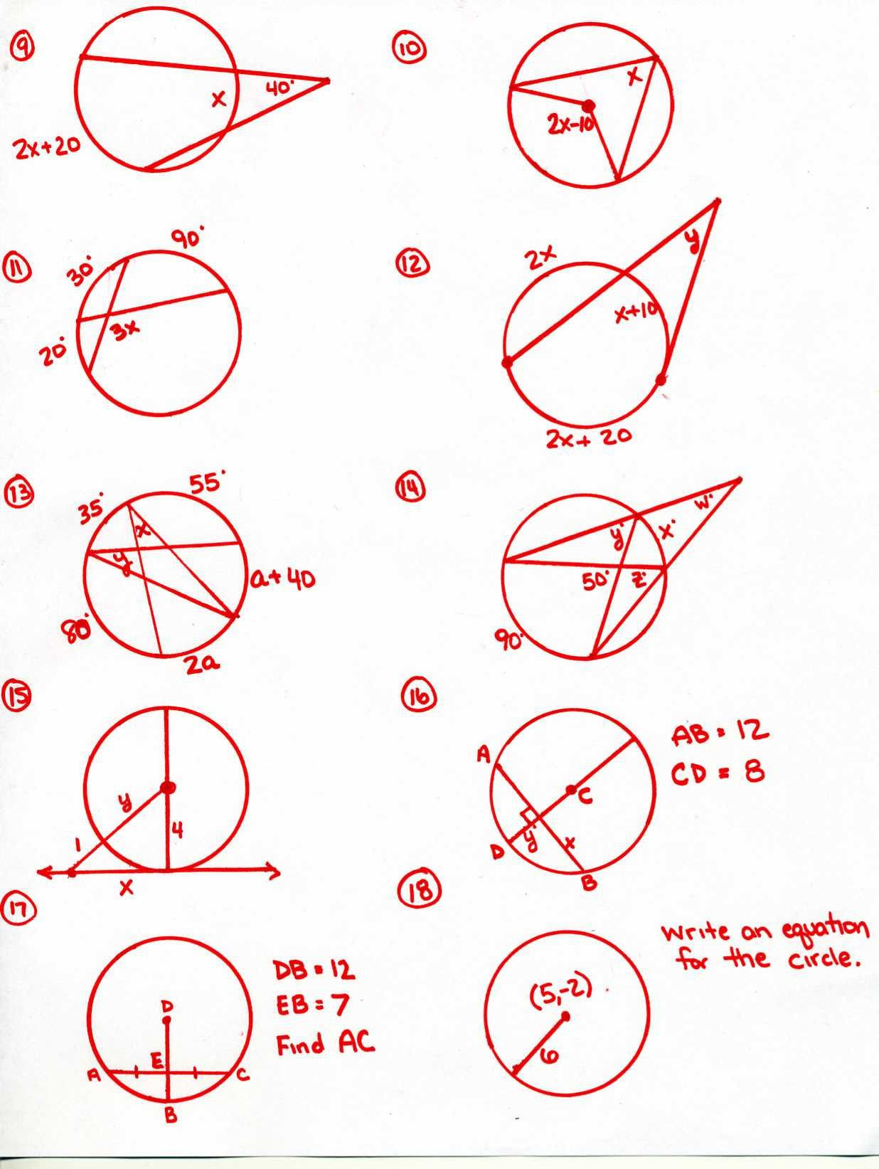 Angles In Circles Worksheet Inscribed Angles Practice Worksheet Promotiontablecovers