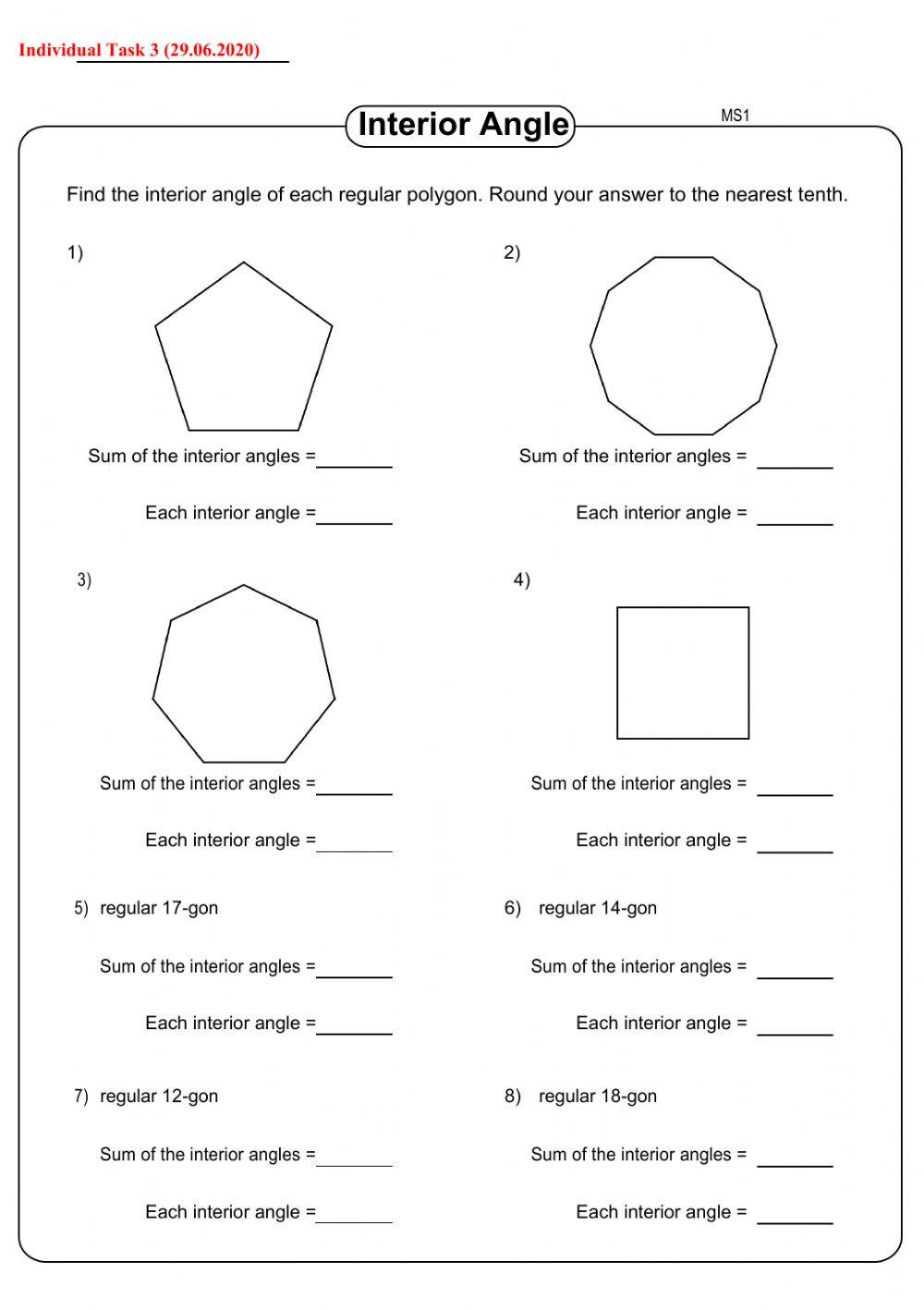 Angles In Circles Worksheet Task 3 Interactive Worksheet