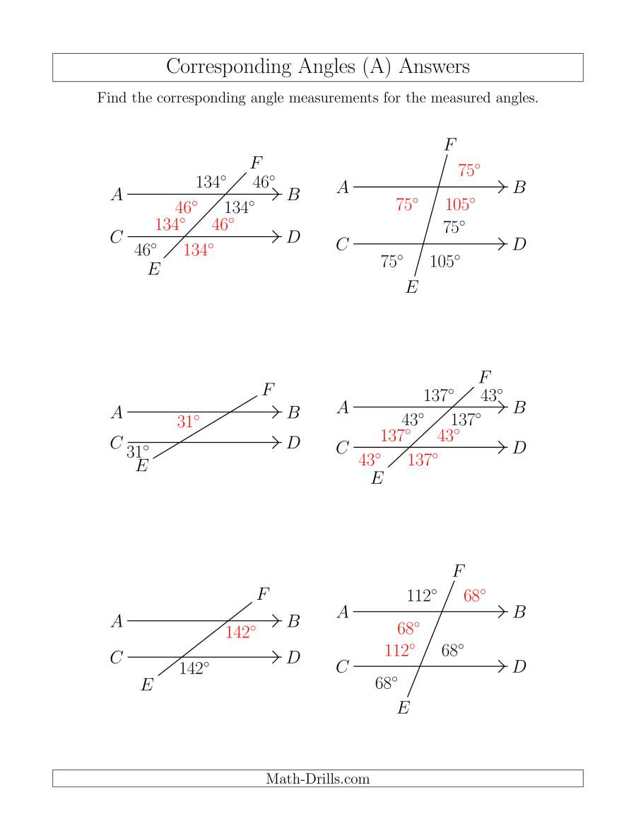 Angles In Transversal Worksheet Answers 33 Angle Relationships Worksheet Answers Worksheet Project
