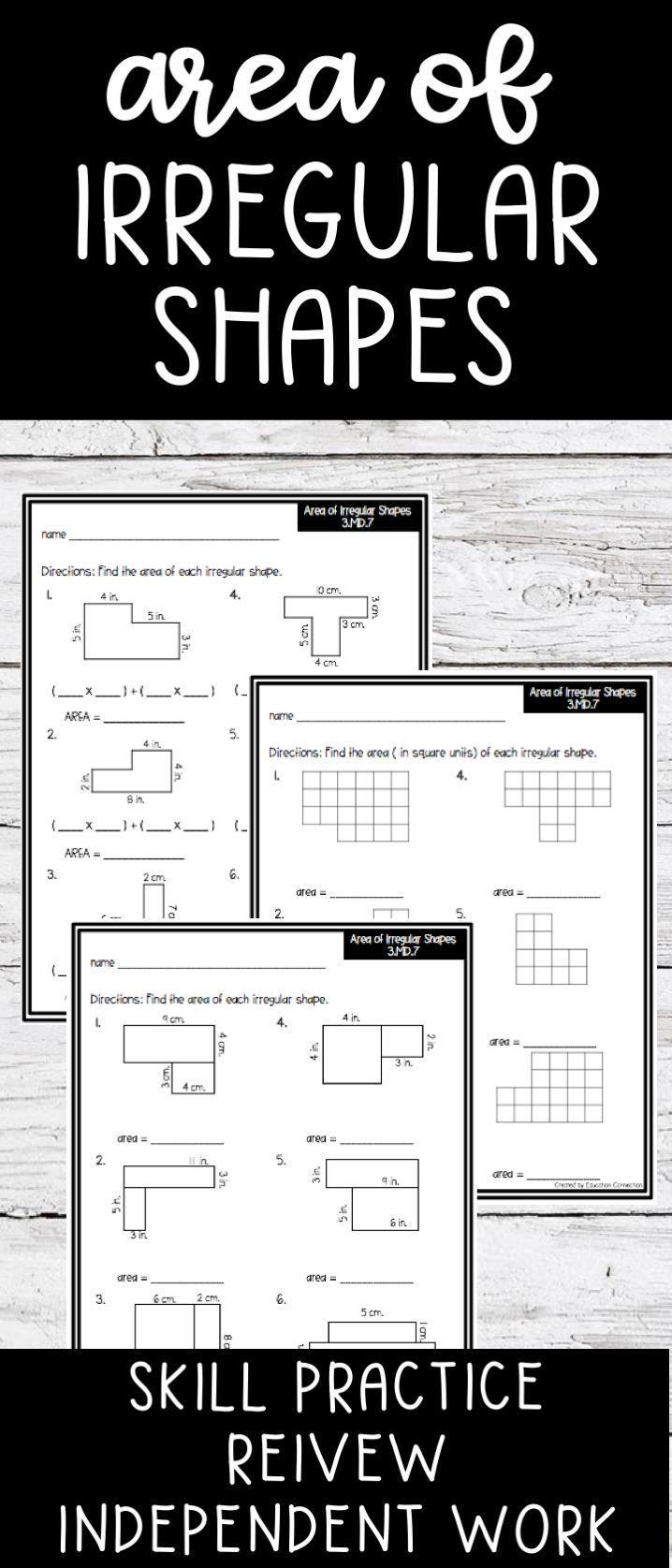 Area Of Irregular Shapes Worksheet area Of Irregular Shapes Worksheets