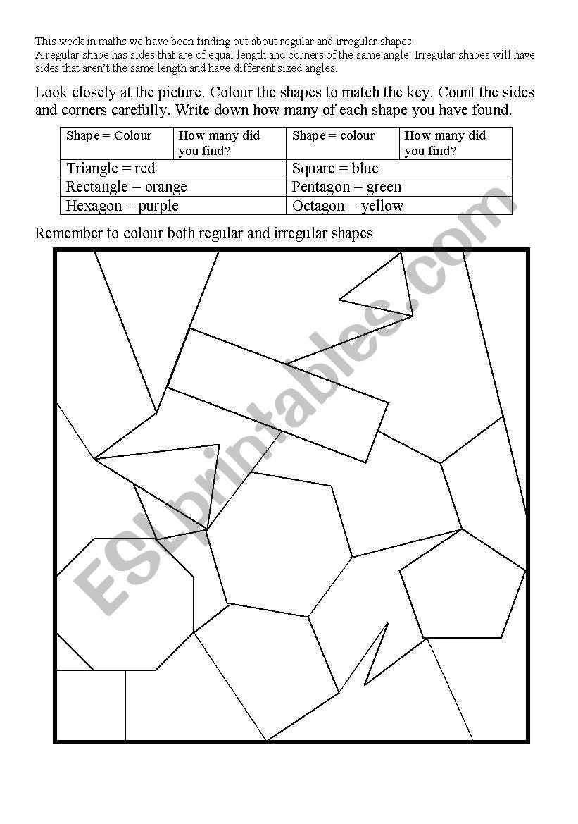 Area Of Irregular Shapes Worksheet English Worksheets Irregular Shapes Worksheet
