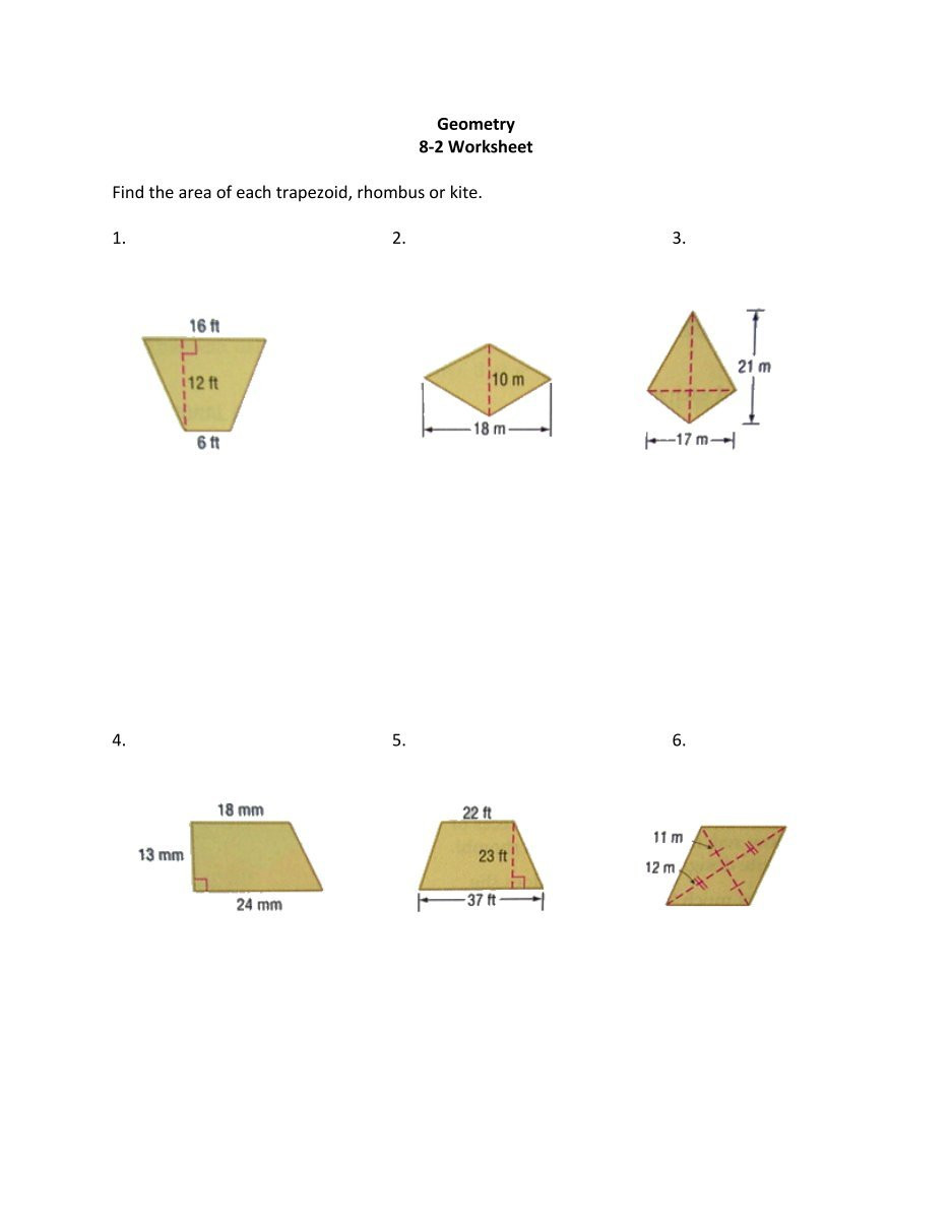 Area Of Rhombus Worksheet 1 Free Magazines From Ia Geometry Weebly