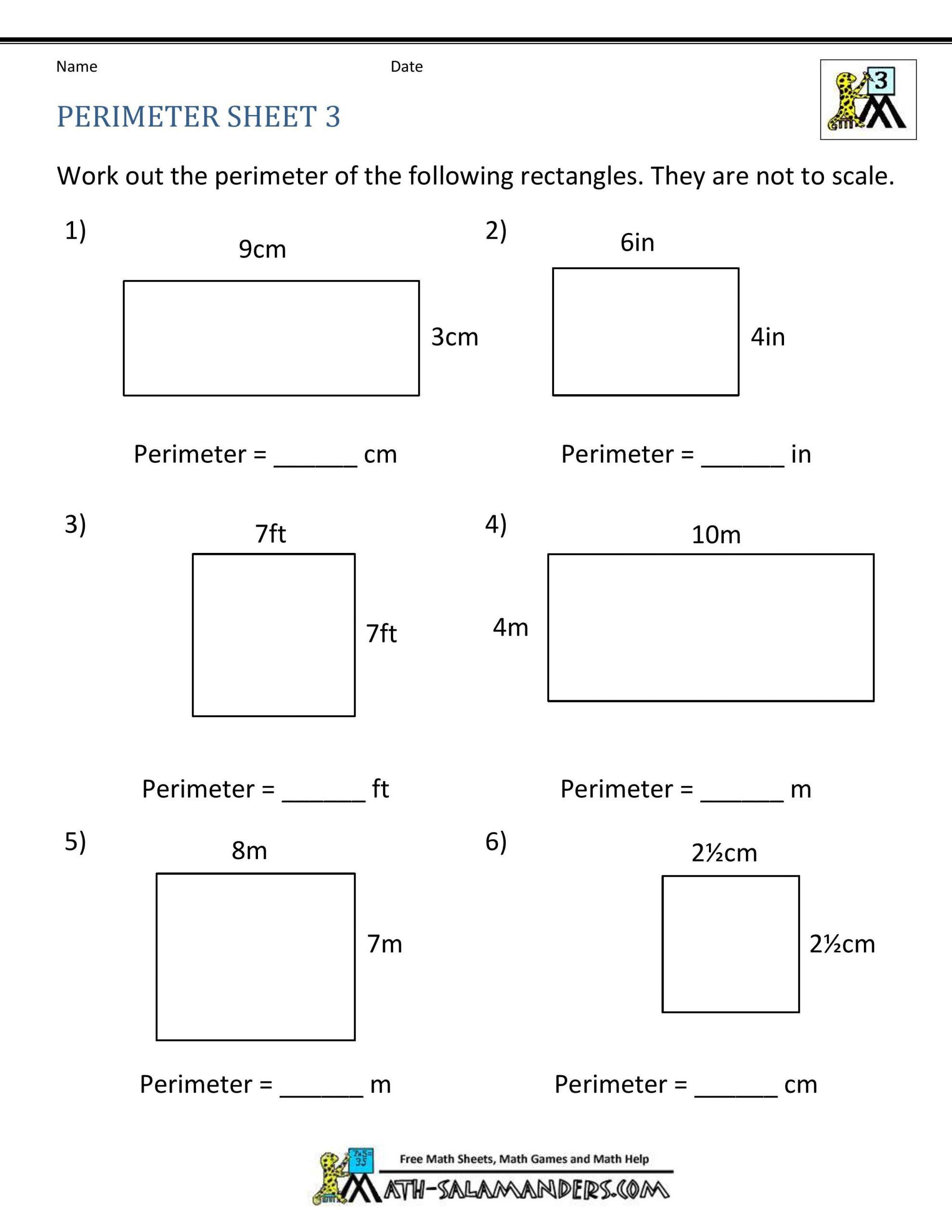 Area Of Rhombus Worksheet ✅ Best 10 area and Perimeter Worksheet