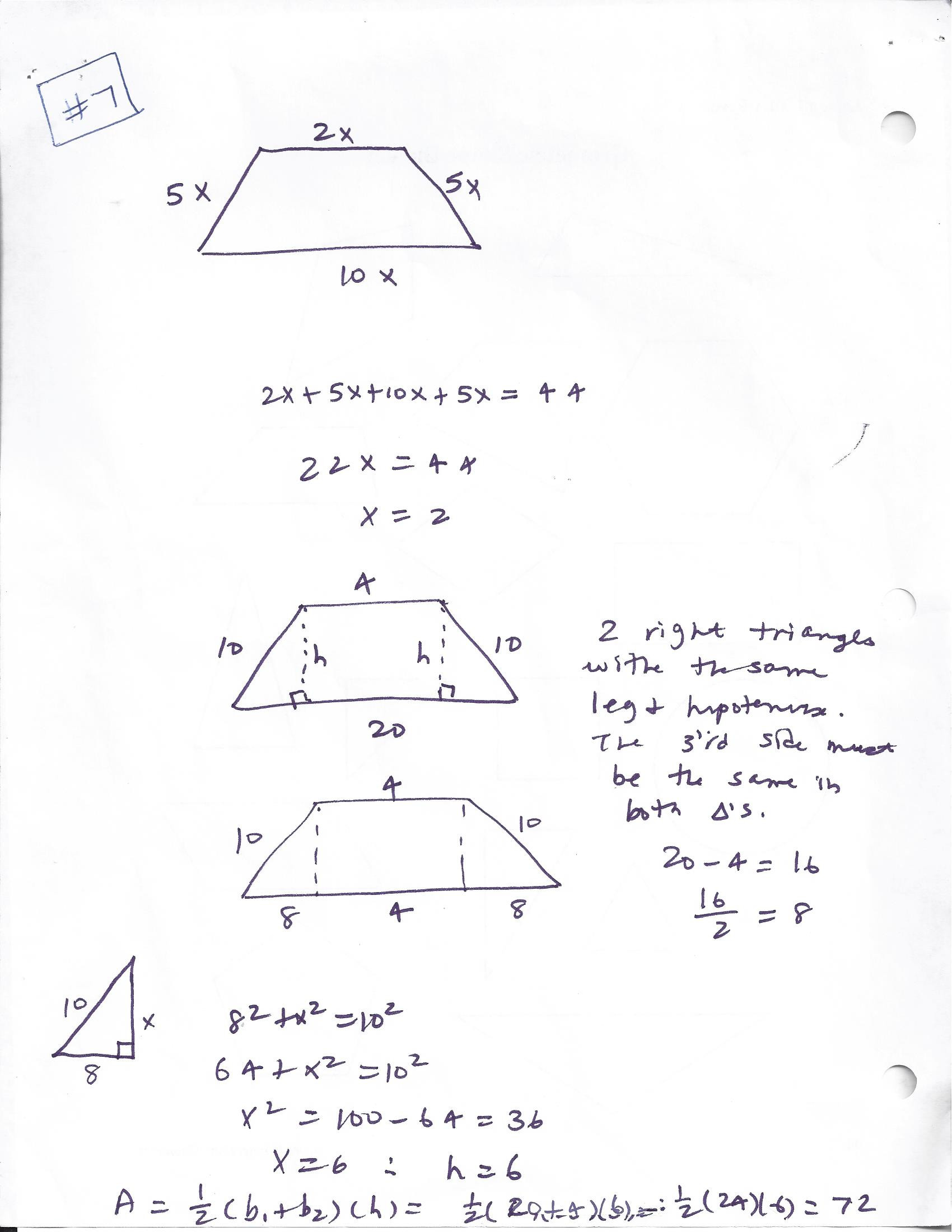 Area Of Rhombus Worksheet Geometry Homework 2017 2018 Old but Want to Use Mrs
