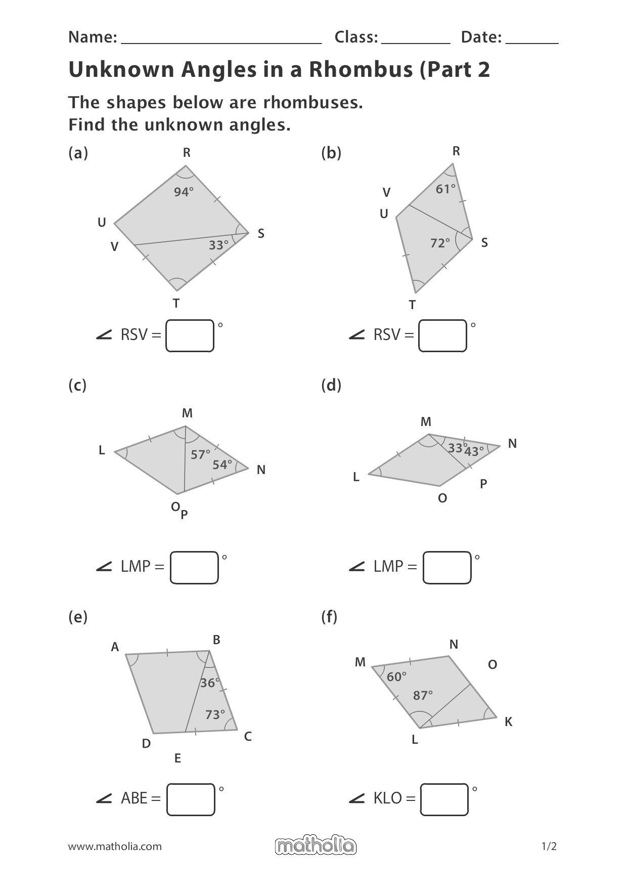 Area Of Rhombus Worksheet Pin On Matholia Printables – Grade 4