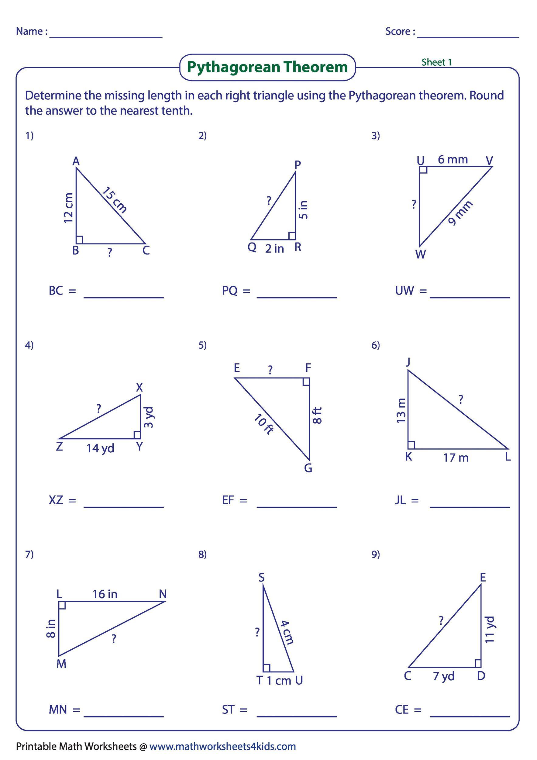 Area Of Trapezoid Worksheet 34 Pythagorean theorem Worksheet Answer Key Worksheet
