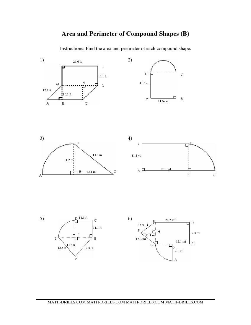 Area Of Trapezoid Worksheet Pound area Worksheets