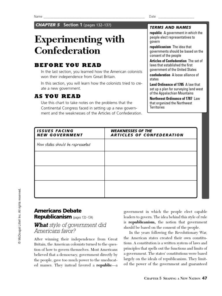 Articles Of Confederation Worksheet Confederation Worksheet Best One U S State