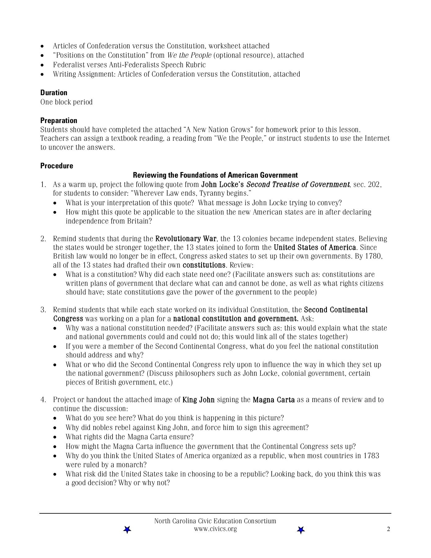 Articles Of Confederation Worksheet Federalists Versus Anti Federalists Grades Pages 1 21