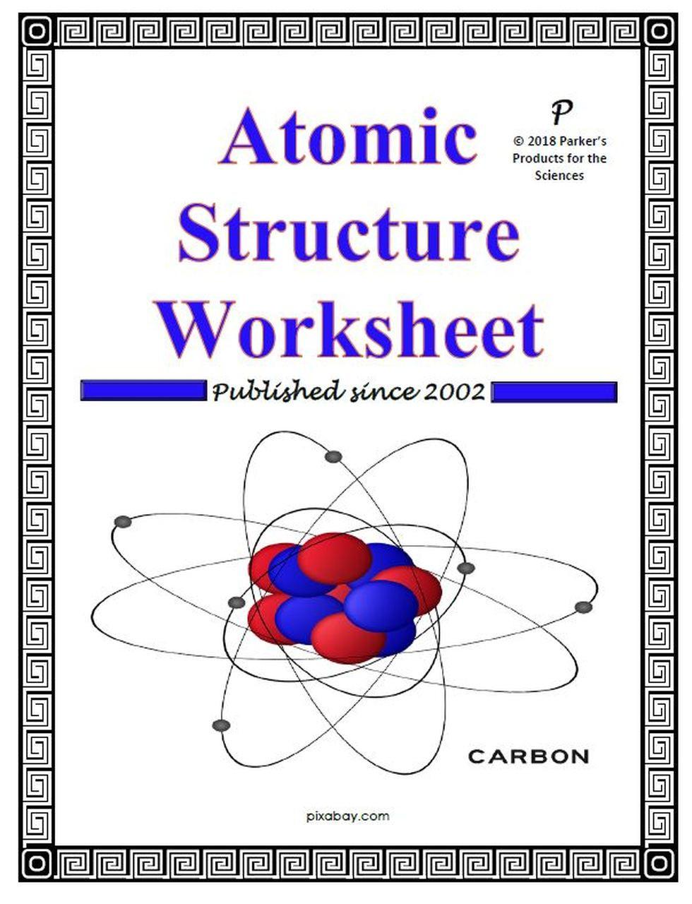 Atomic Structure Worksheet Answers Key atomic Structure Worksheet