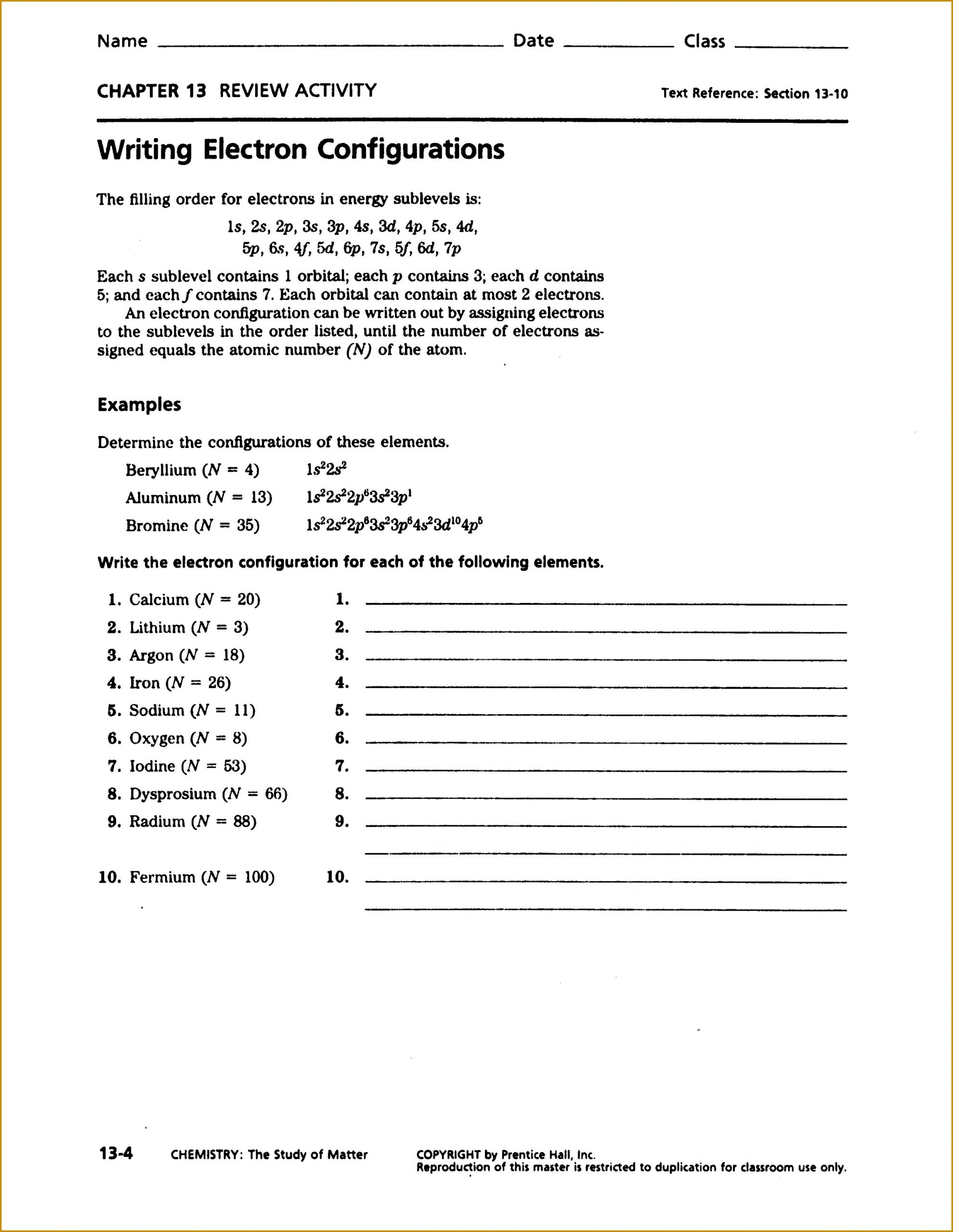 Atomic Structure Worksheet Answers Key Chapter 4 atomic Structure Worksheet Answers