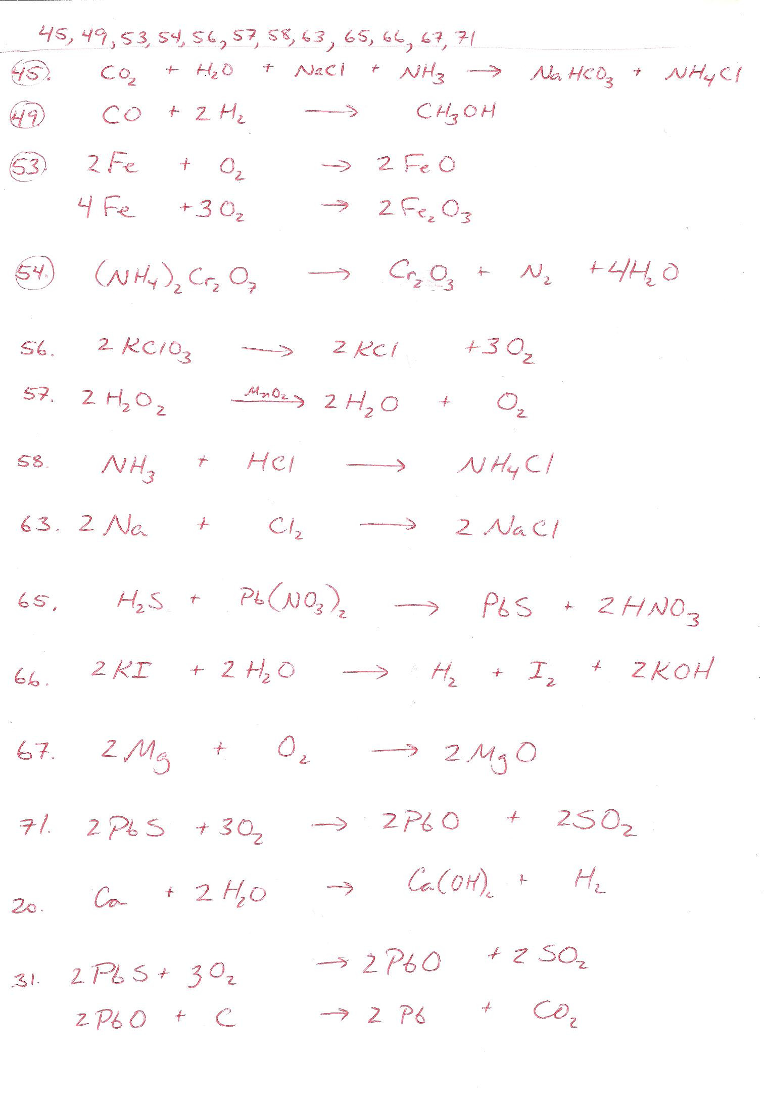 Balancing Act Worksheet Answers 30 111 Describing Chemical Reactions Worksheet Answers