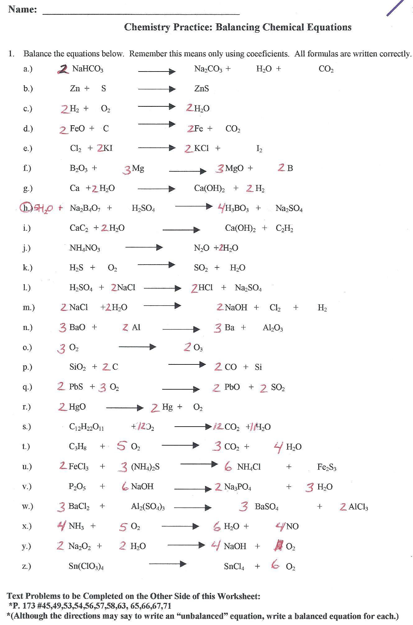 Balancing Nuclear Equations Worksheet Answers Balancing Equations Worksheet Grade 1