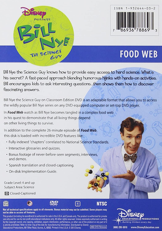 Bill Nye Food Web Worksheet Amazon Bill Nye the Science Guy Food Web Classroom