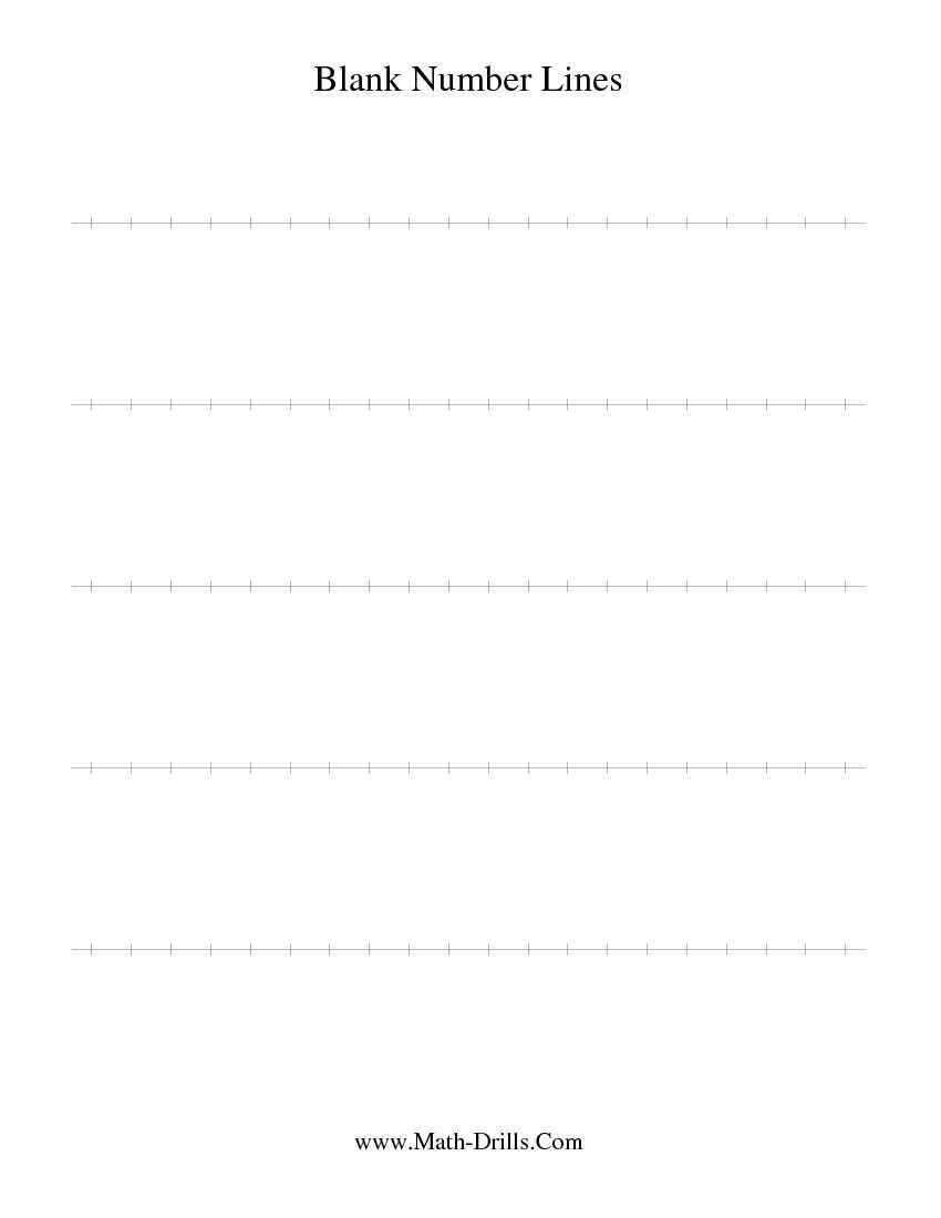 Blank Number Line Worksheet Blank Number Line