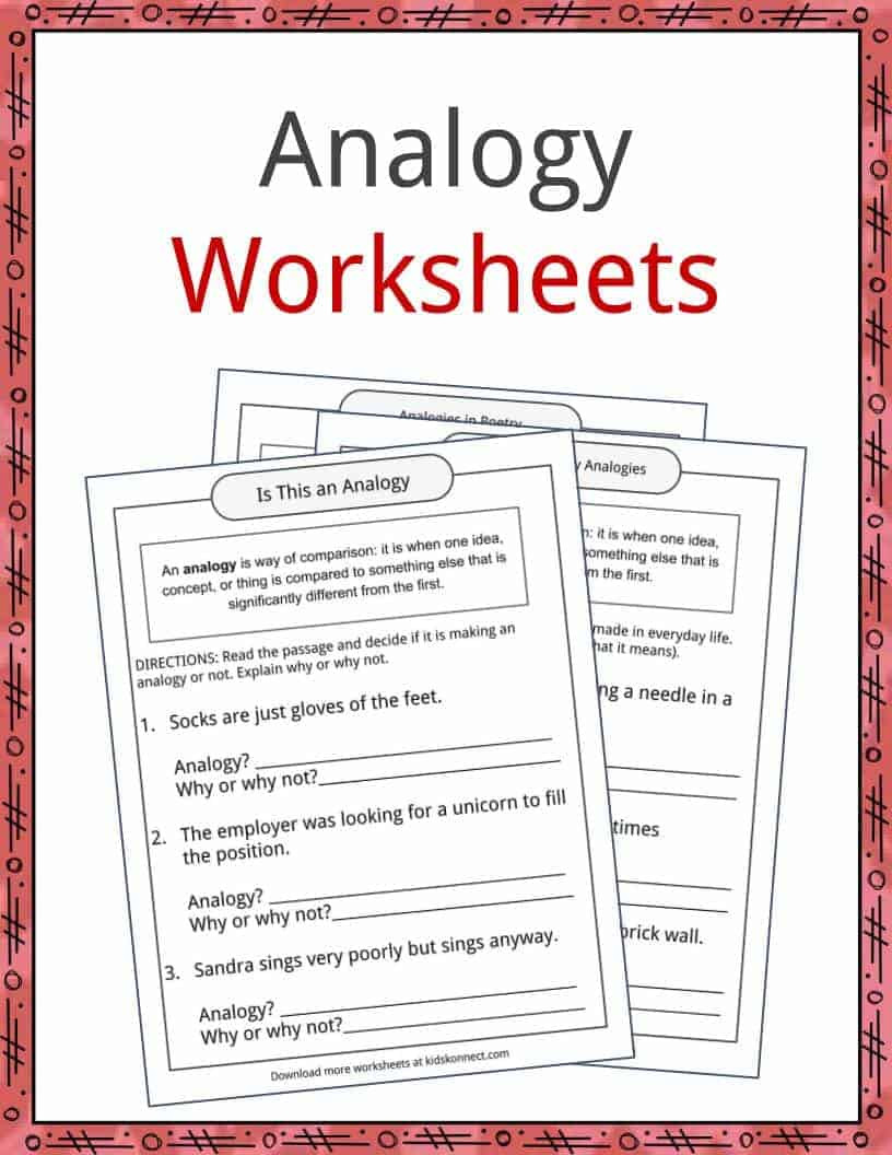 Cell City Analogy Worksheet Analogy Examples Definition and Worksheets