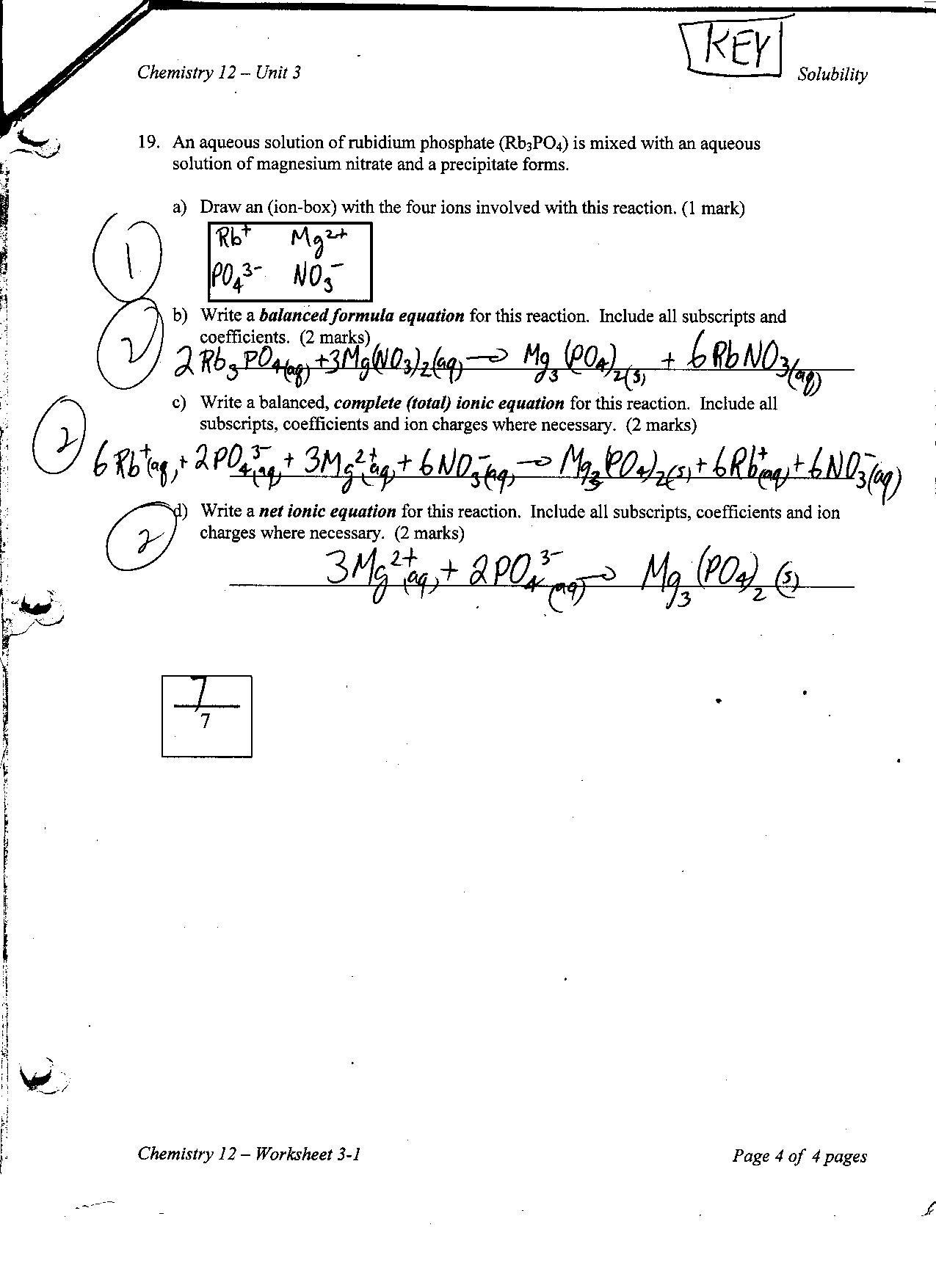 Chemistry Of Life Worksheet Chemistry 12 Worksheet 4 6 Answers