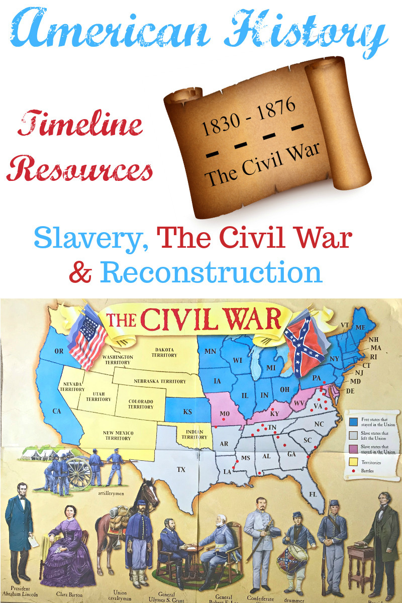 Civil War Map Worksheet American History Timeline Resources Slavery the Civil War