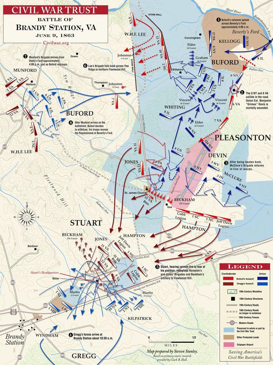 Civil War Map Worksheet Brandy Station June 9 1863