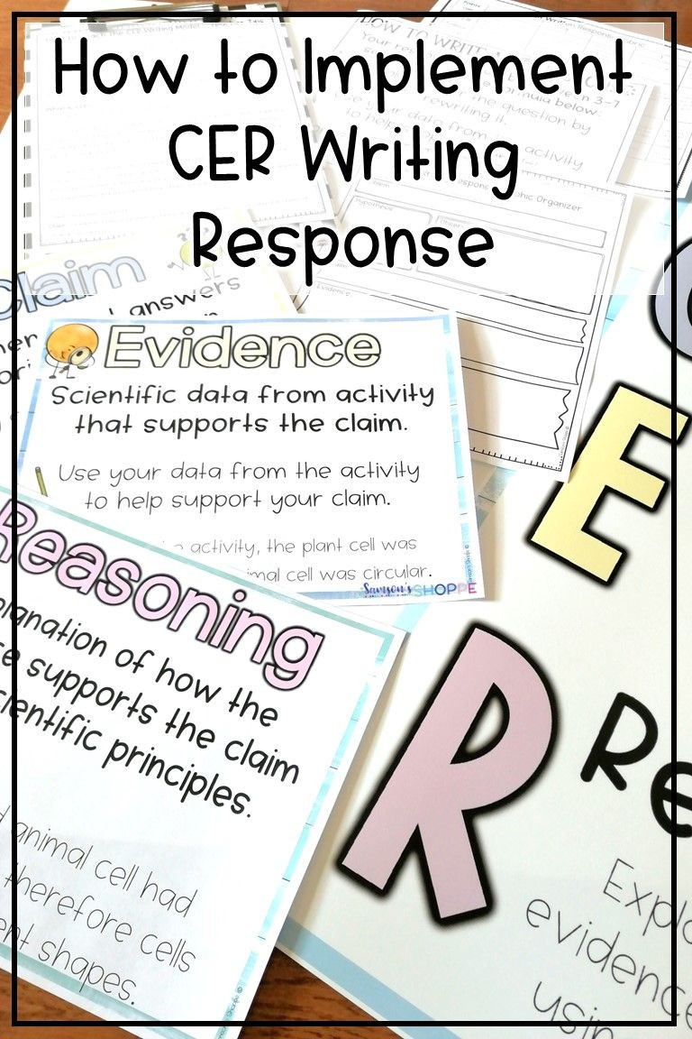 Claim Evidence Reasoning Science Worksheet Cer Claim Evidence Reasoning
