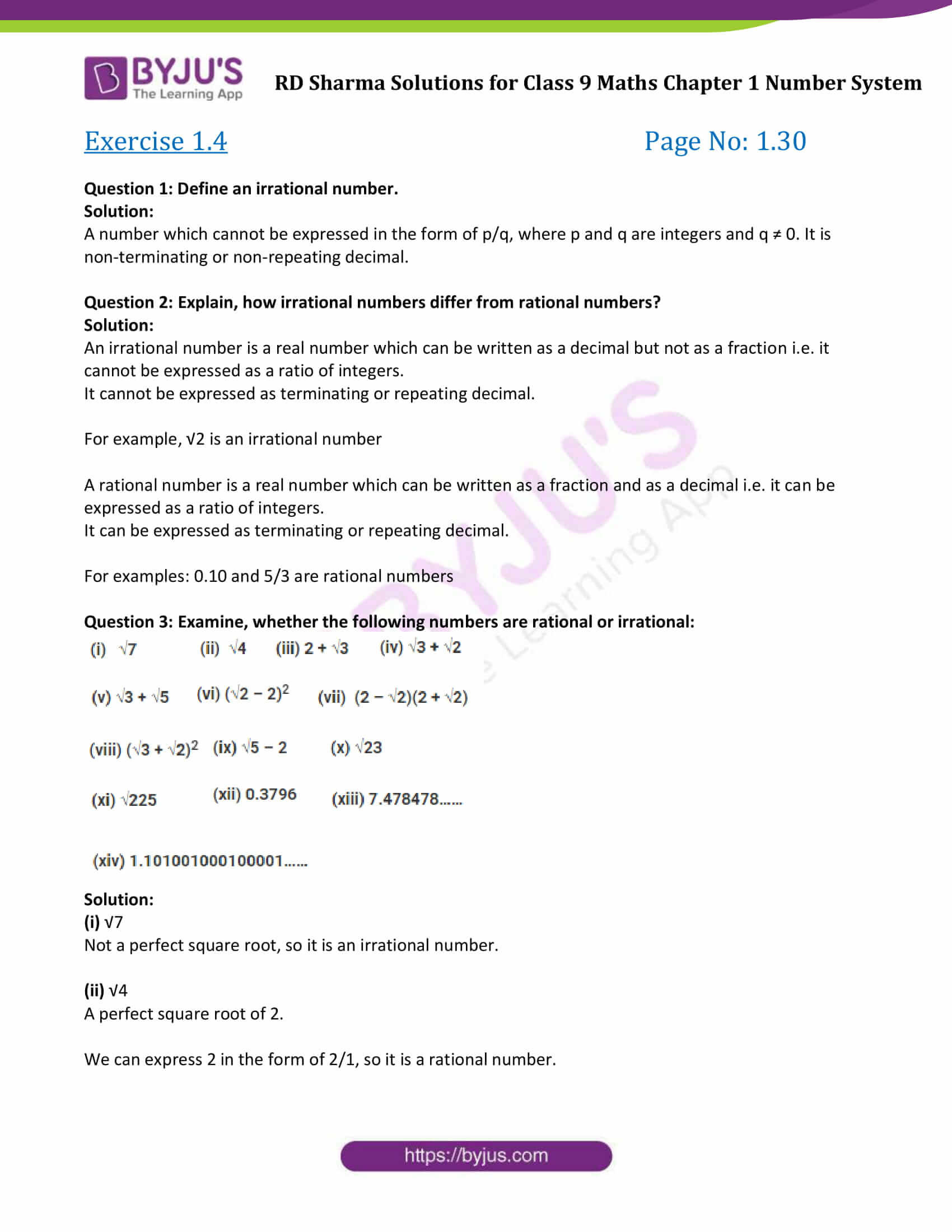 Classifying Real Numbers Worksheet Rd Sharma Class 9 solutions Maths Chapter 1 Number System