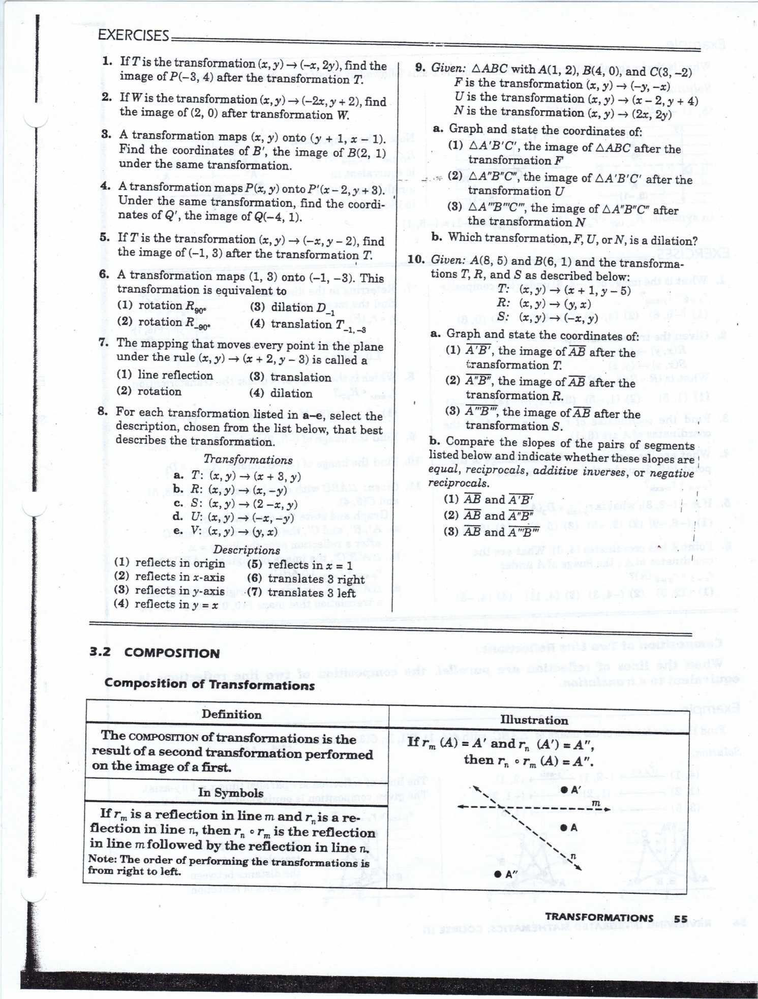 Composition Of Transformations Worksheet Pin On Printable Blank Worksheet Template
