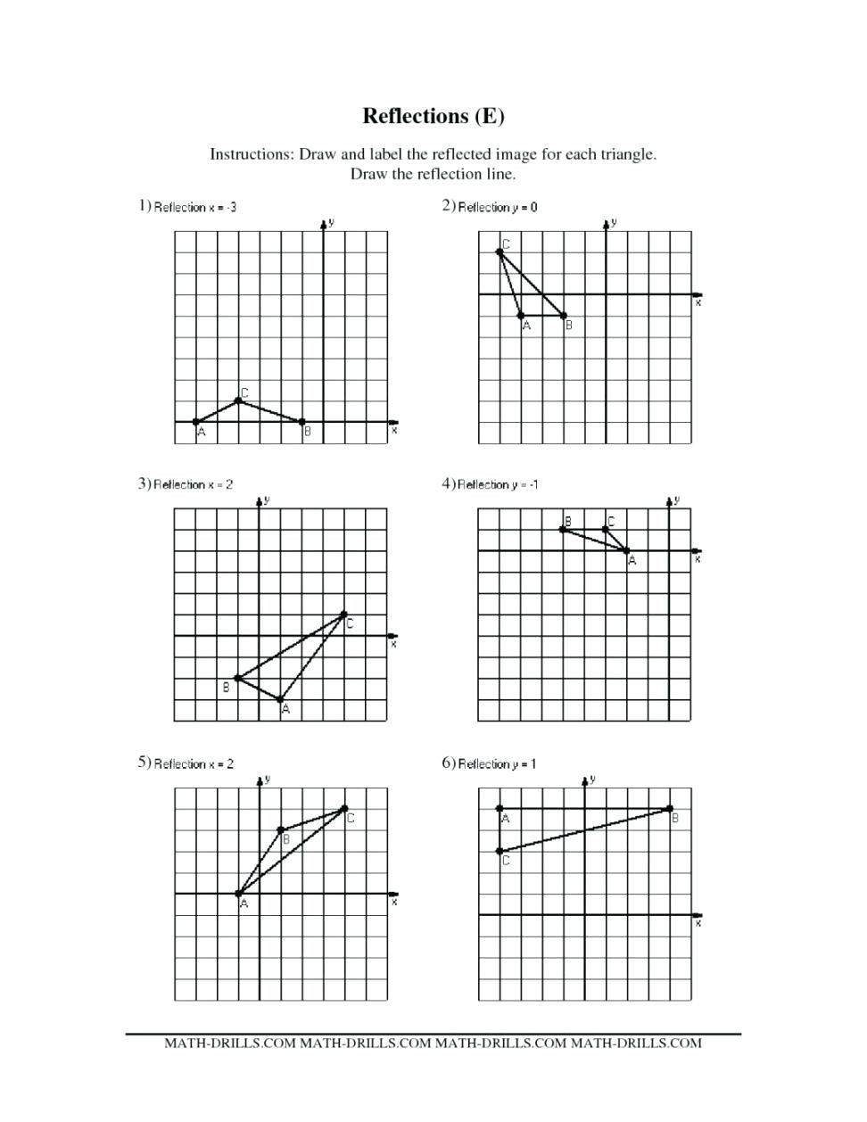 Composition Of Transformations Worksheet Reflections Worksheet Answer Key Nidecmege