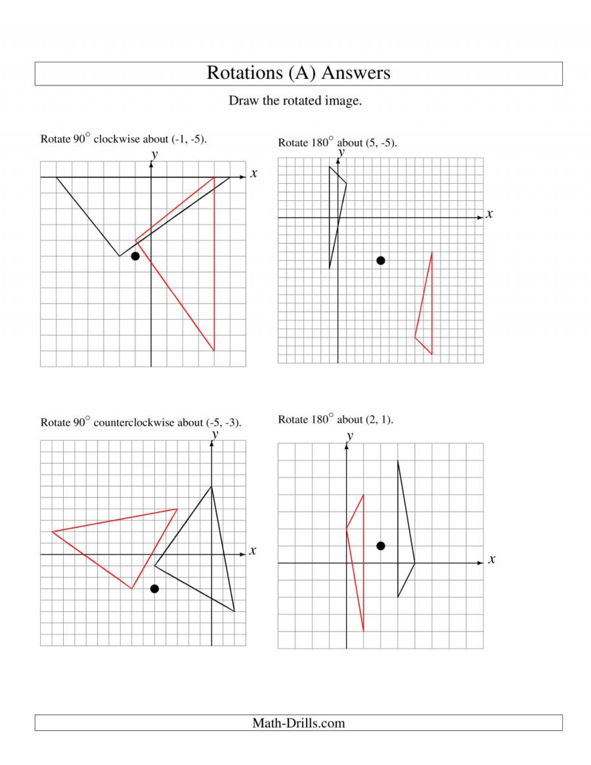 Composition Of Transformations Worksheet Writting Transformation Worksheets