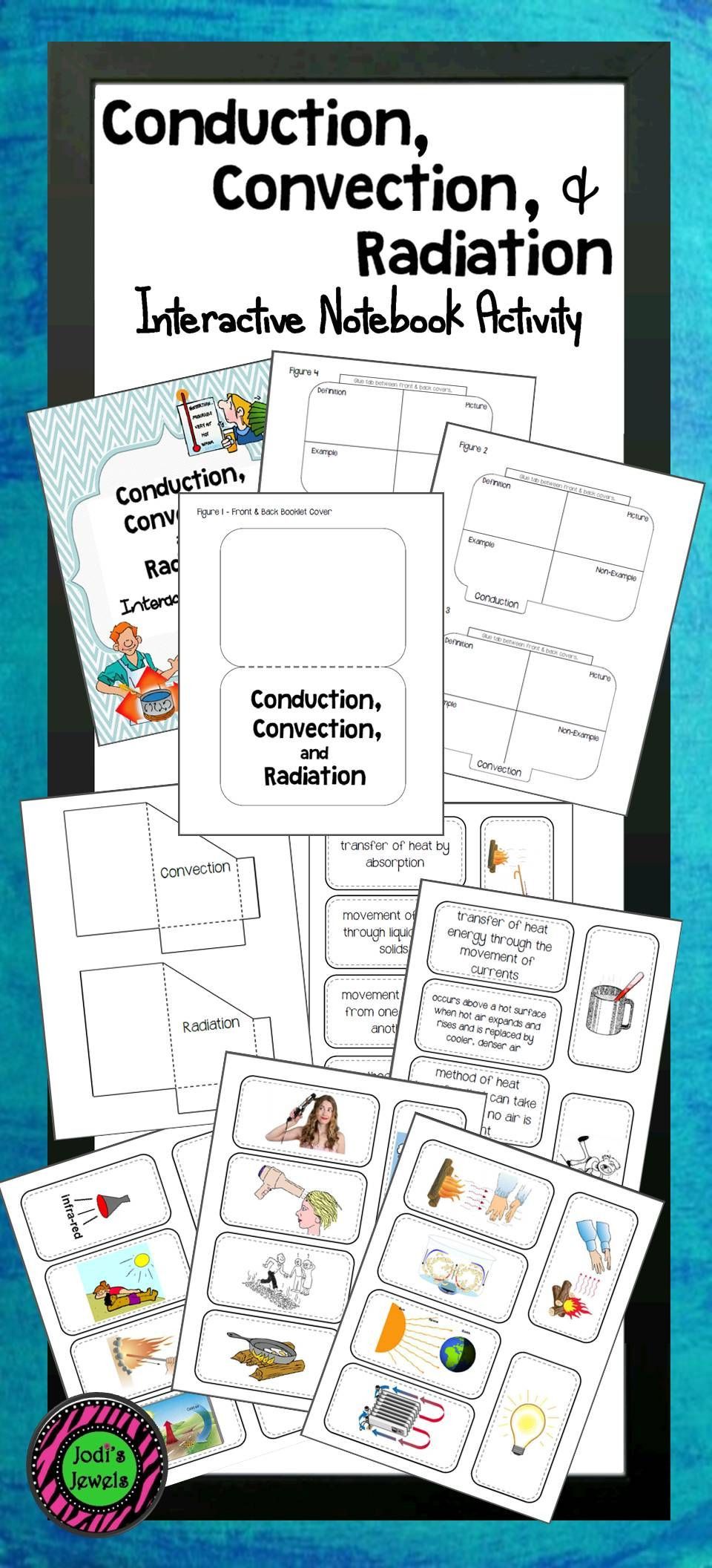 Conduction Convection Radiation Worksheet Conduction Convection & Radiation Interactive Notebook