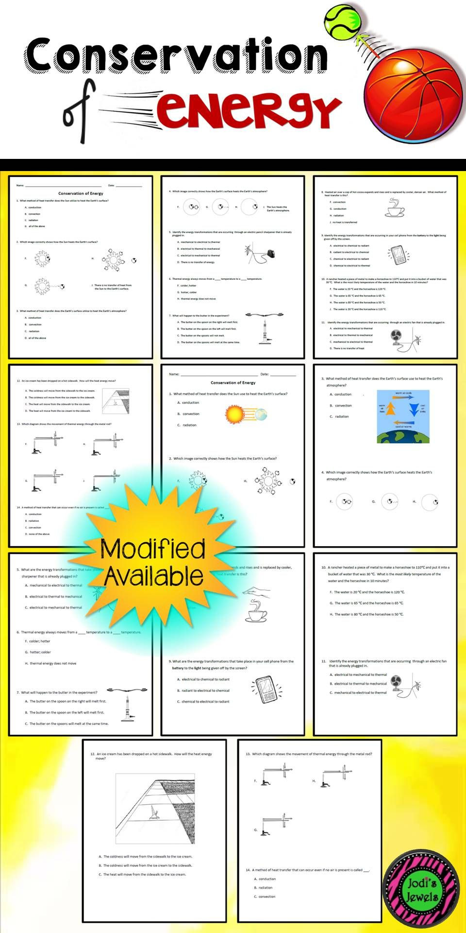 Conduction Convection Radiation Worksheet Created for An Introduction to the Conservation Of Energy