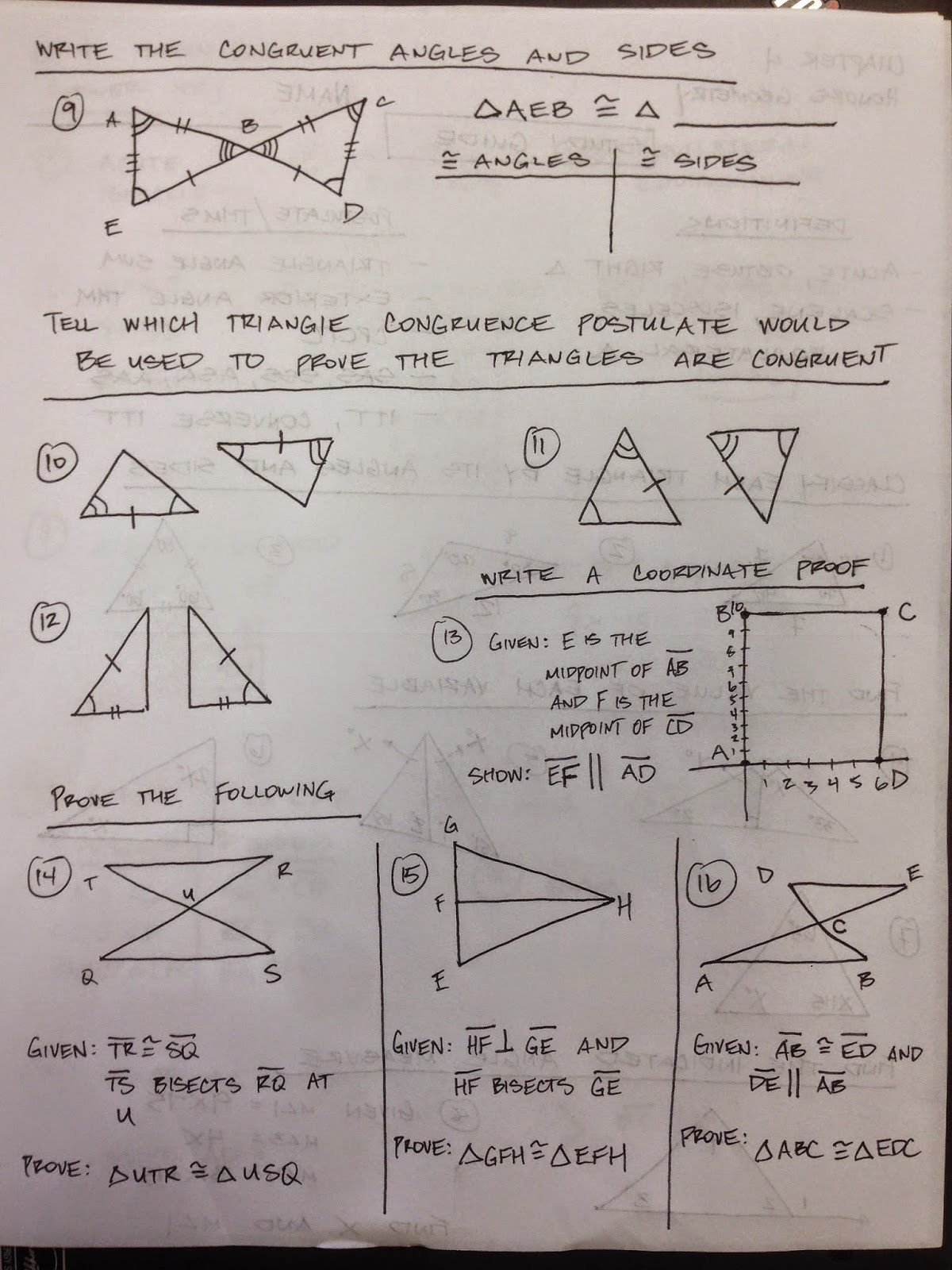 Congruent Triangles Worksheet Answer Key Honors Geometry Vintage High School Chapter 4 Test Study
