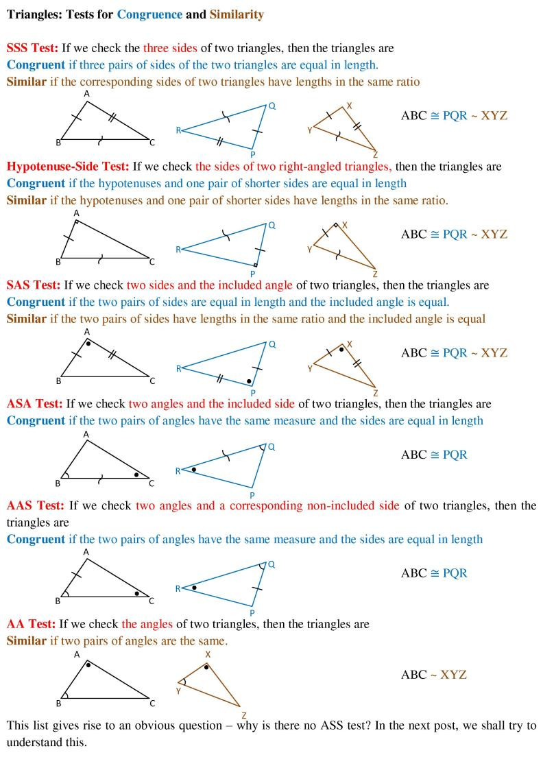 Congruent Triangles Worksheet Answer Key Triangles – Similarity and Congruence