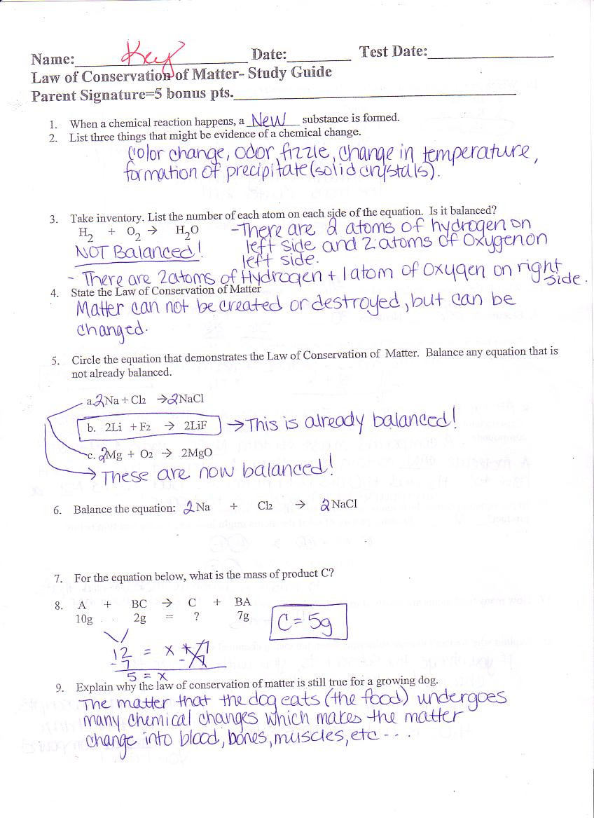Conservation Of Mass Worksheet 31 Law Conservation Mass Worksheet Answers Worksheet