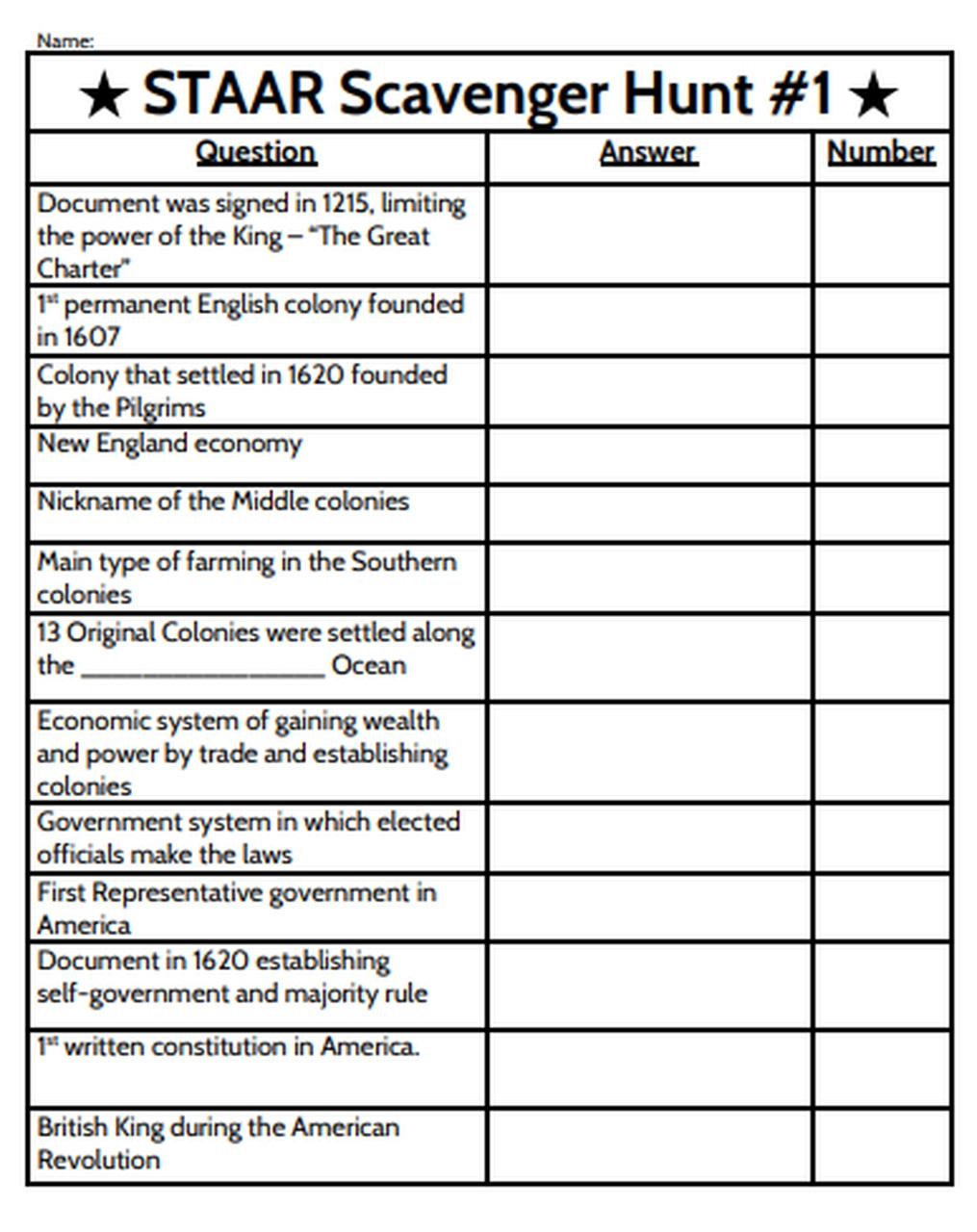 Constitution Scavenger Hunt Worksheet 8th Grade social Stu S Staar Scavenger Hunt Exploration Through Constitution