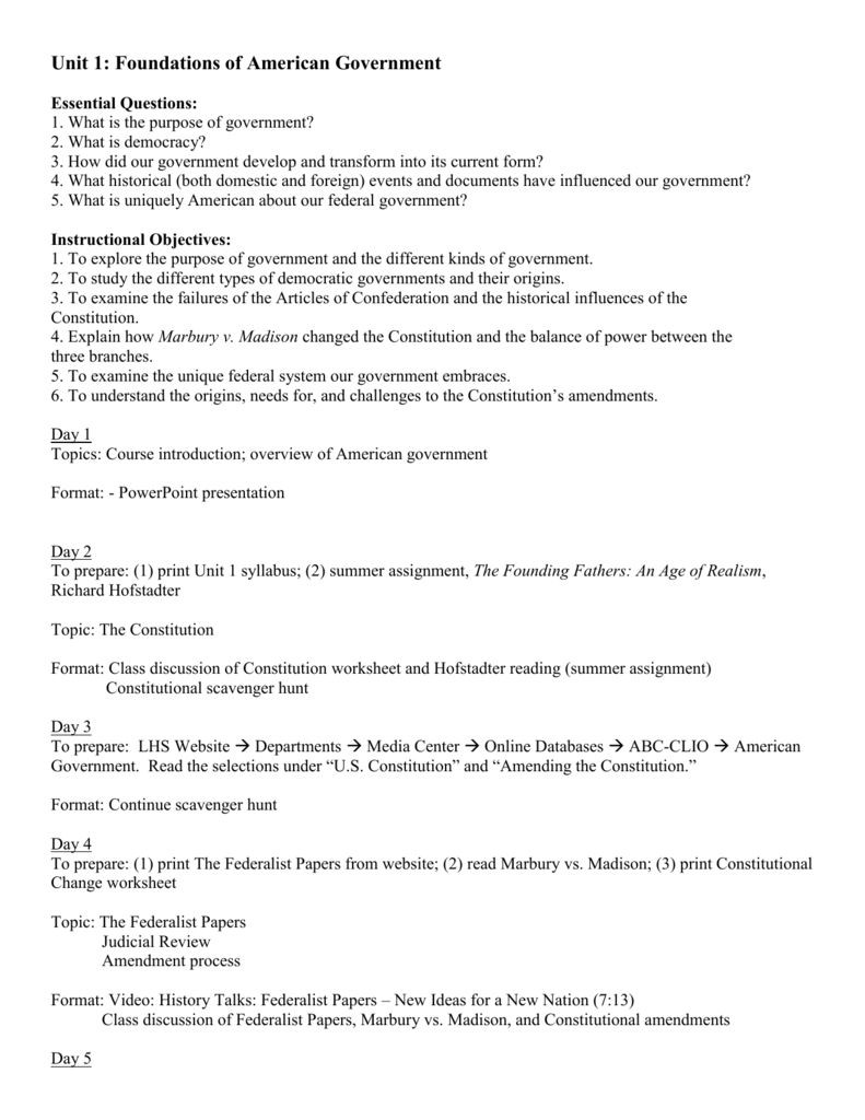 Constitution Scavenger Hunt Worksheet Outline the Constitution Worksheet Outline the