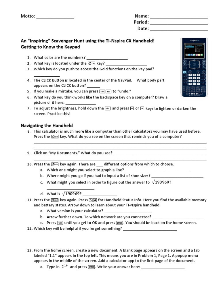Constitution Scavenger Hunt Worksheet Ti Nspire Cx Scavenger Hunt Worksheet Answers