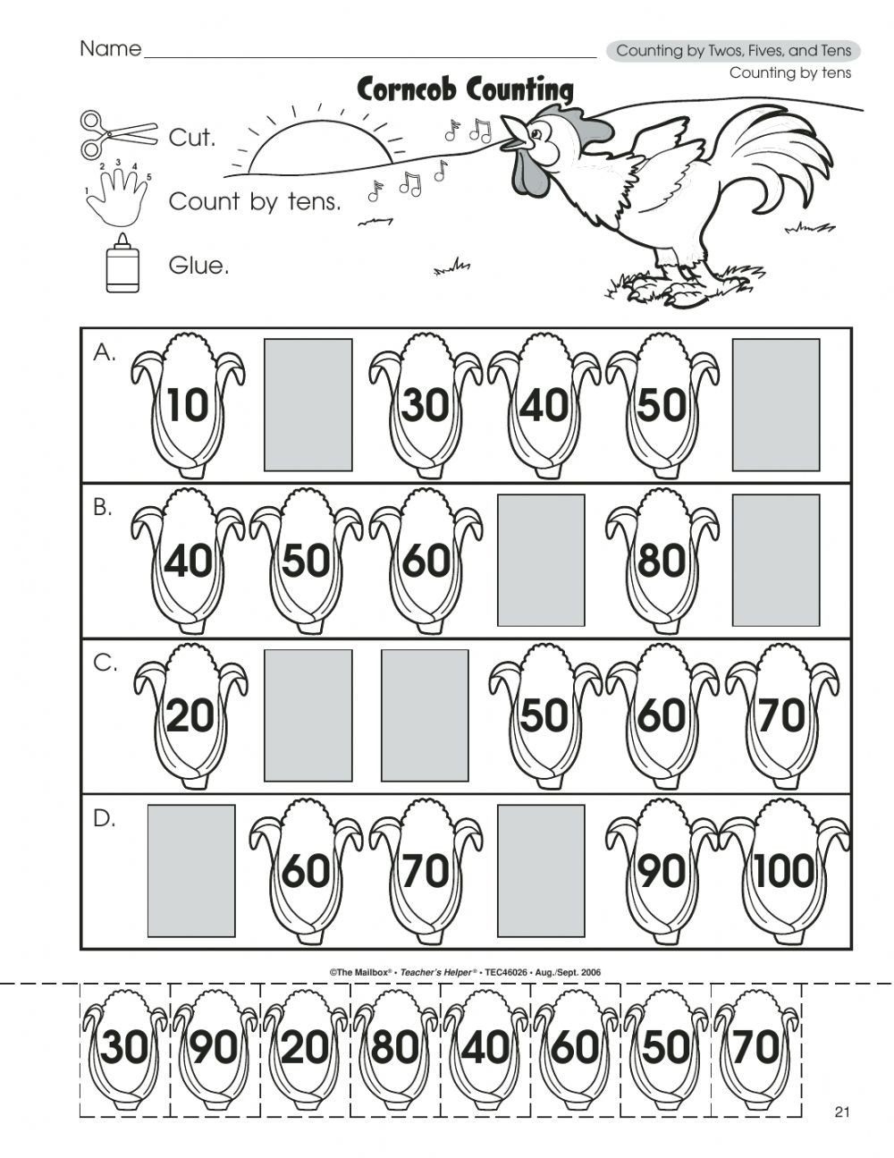 Counting In 10s Worksheet Counting by Tens Interactive Worksheet