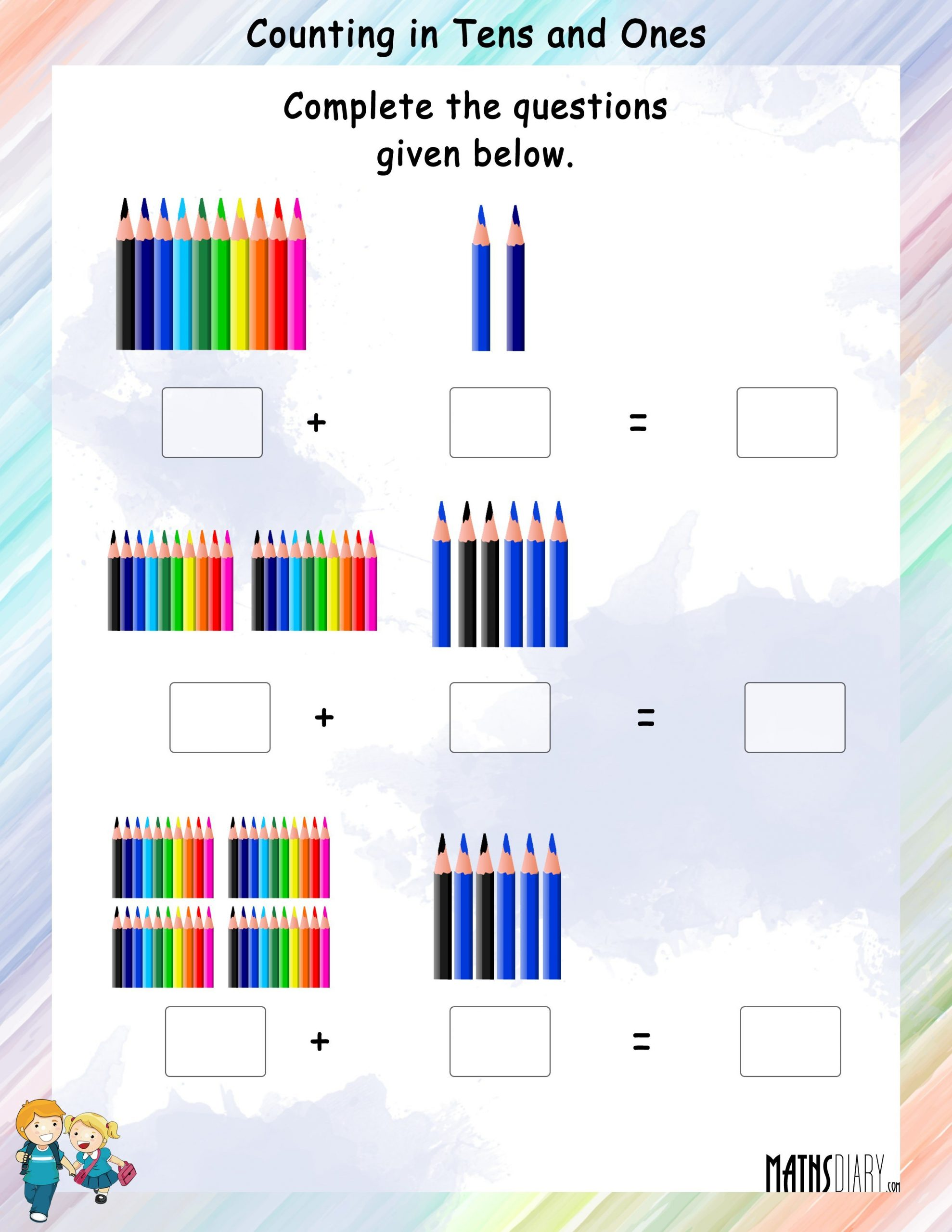 Counting In 10s Worksheet Counting In Tens and Es Math Worksheets Mathsdiary