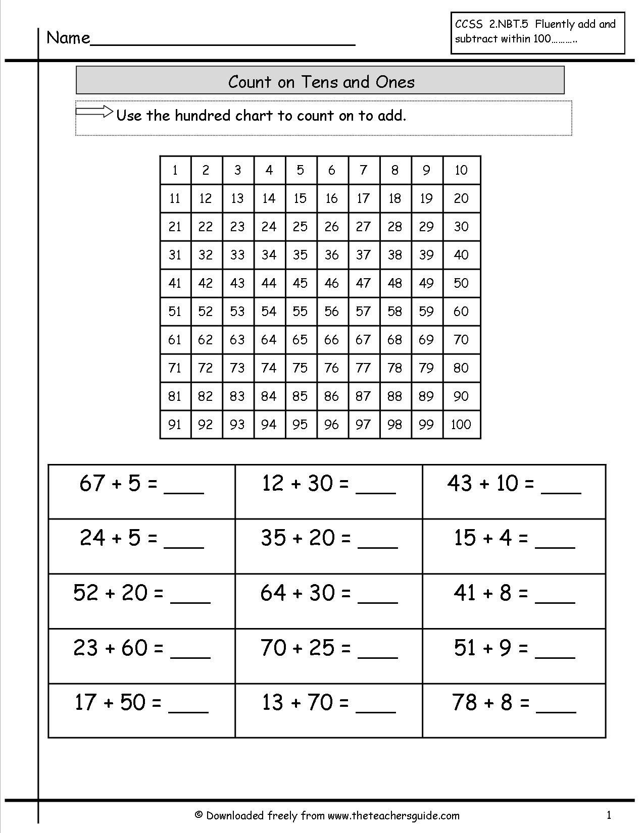 Counting In 10s Worksheet Counting On Ones and Tens Worksheet