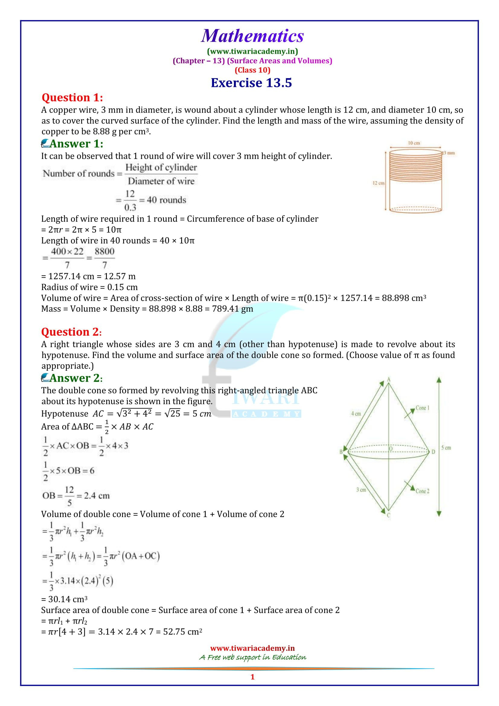 Cross Section Worksheet 7th Grade 3 Math Volume Worksheets Grade 7 Ncert solutions for Class