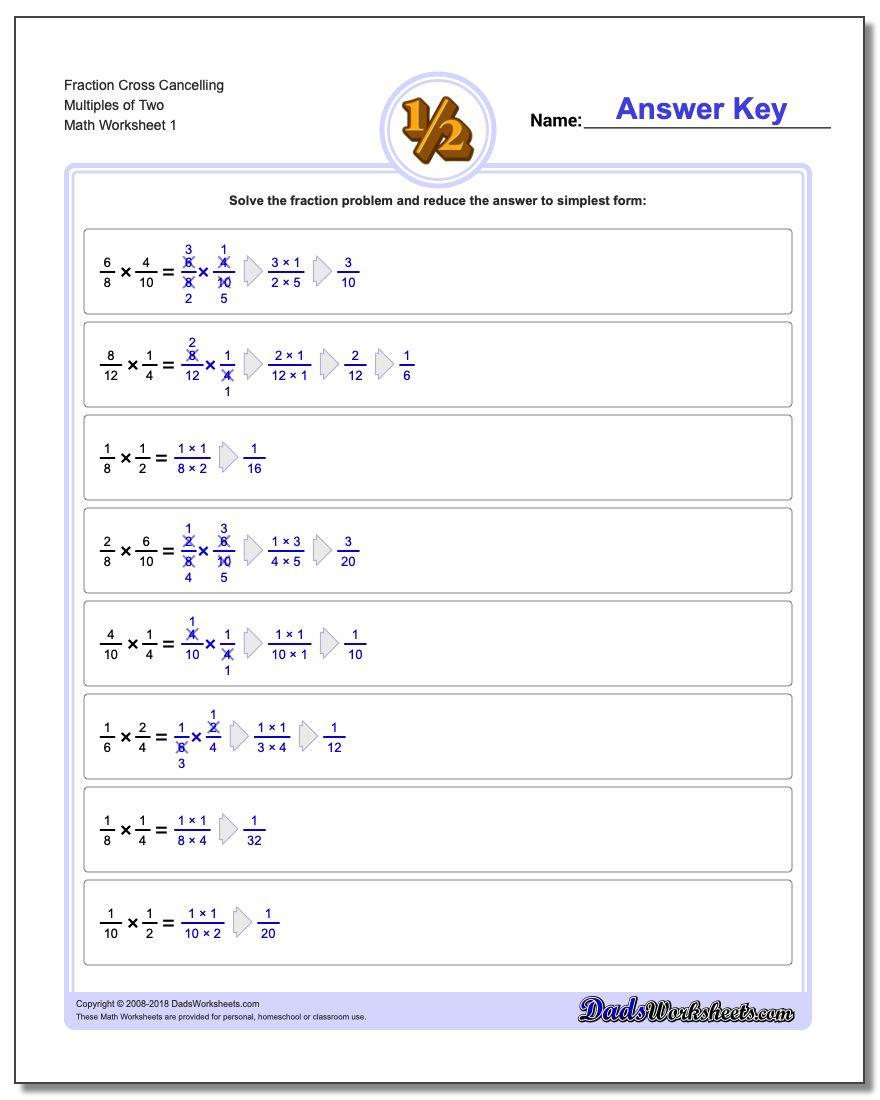 Cross Section Worksheet 7th Grade Fraction Multiplication