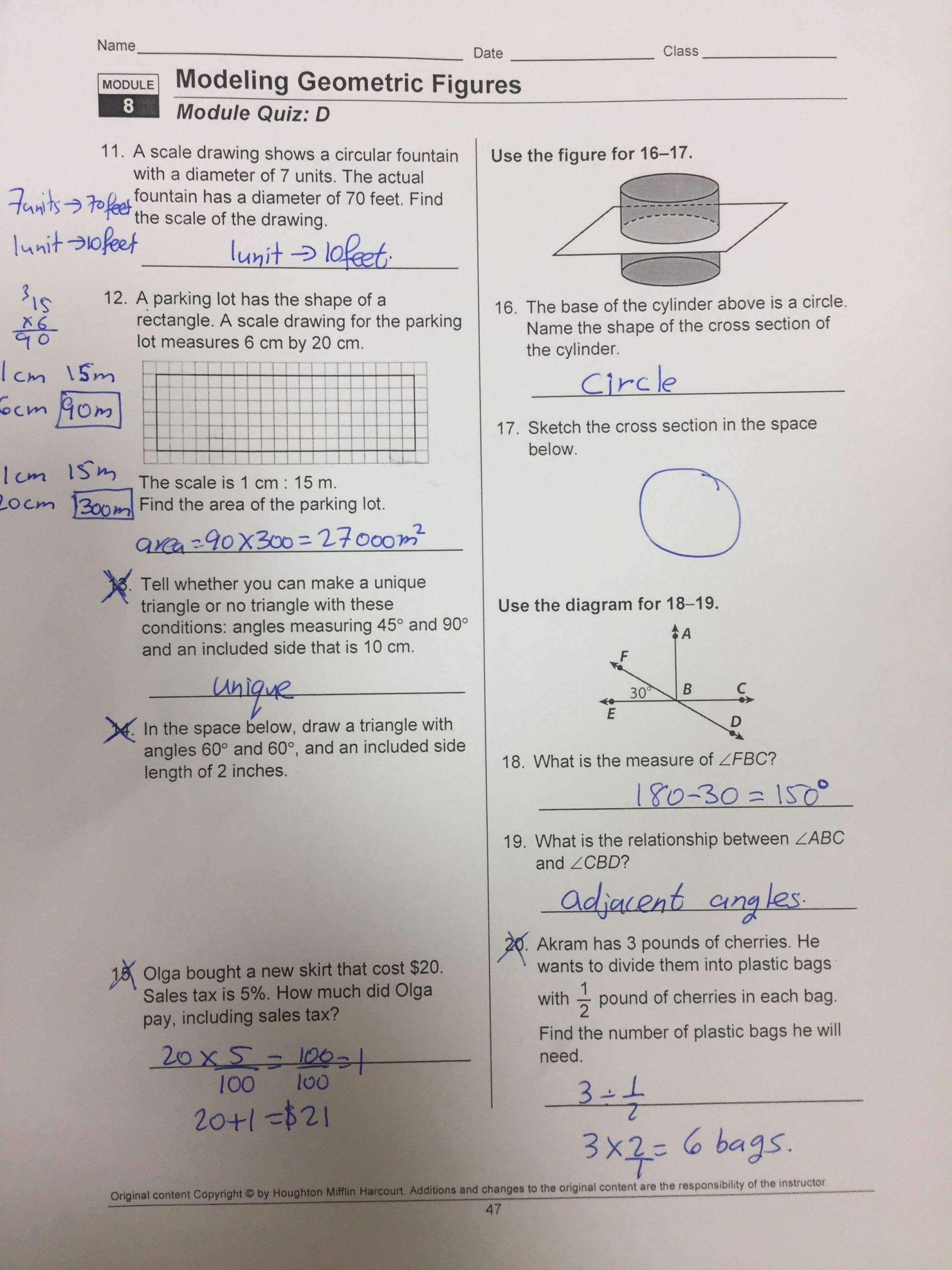 Cross Section Worksheet 7th Grade Math Mr Karim – Grade 7 Blog